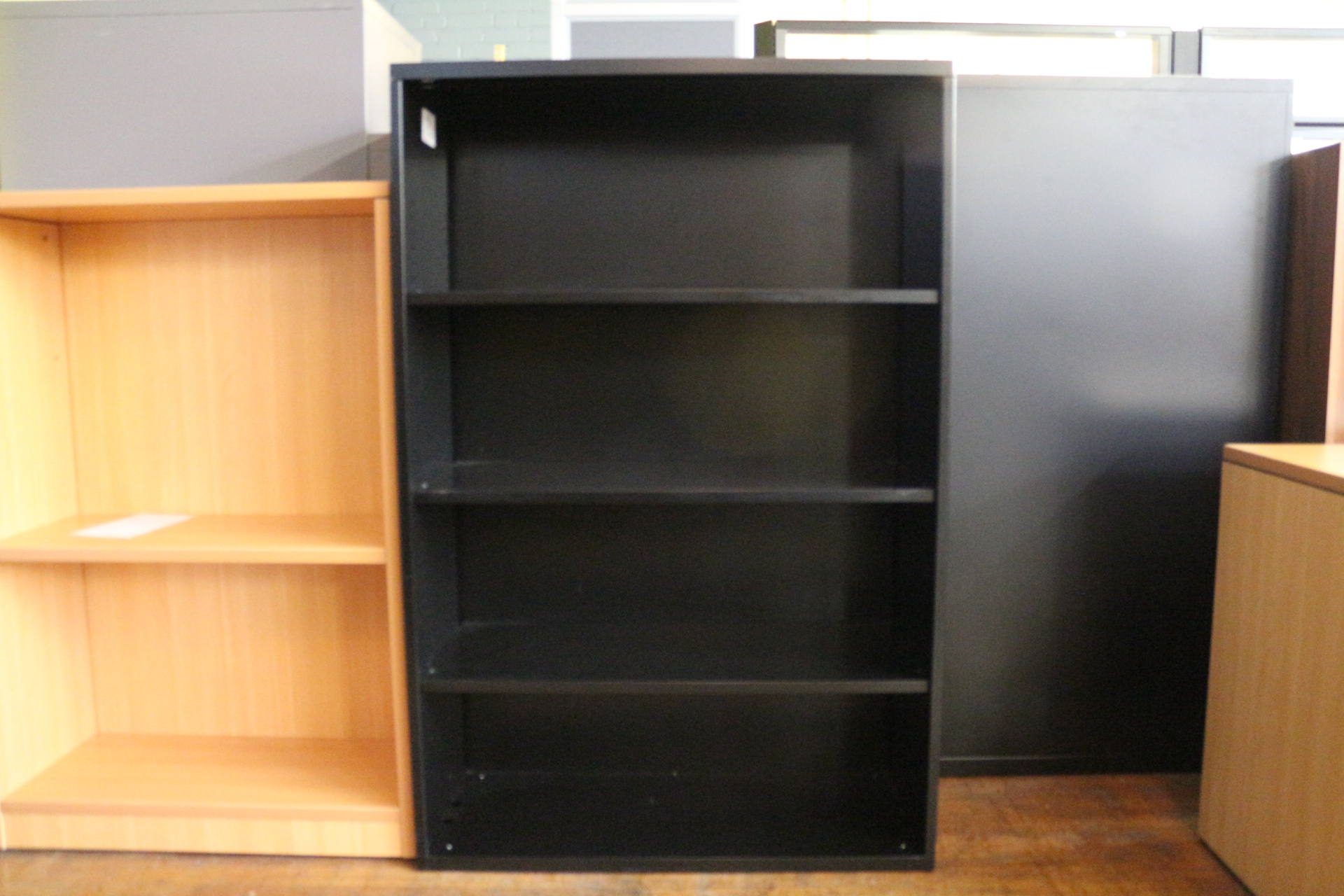 KI Black Metal Bookcase