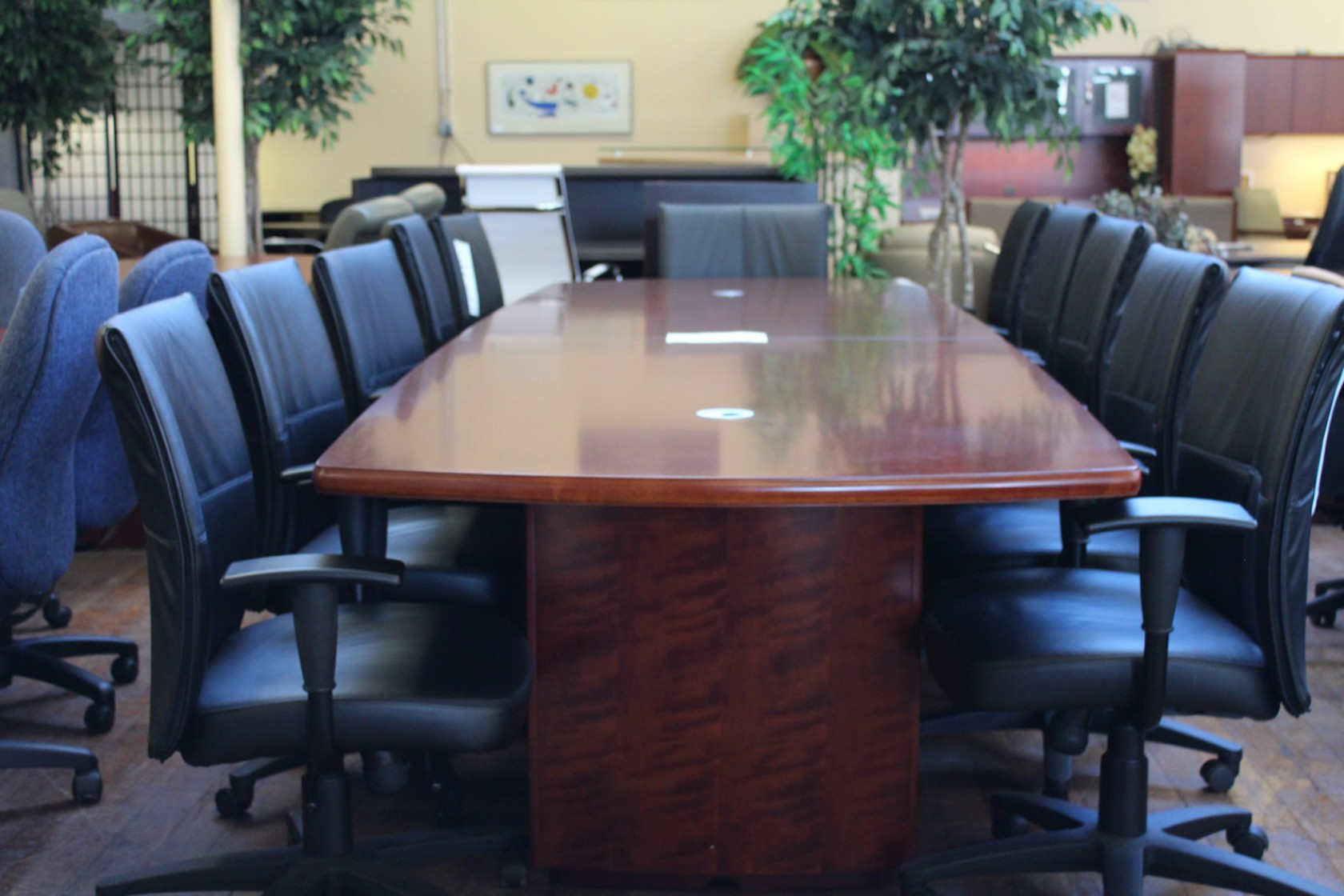 Bradford 8′ Cherry Conference Table With Grommets
