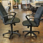 Hon Black Fabric Conference Chairs (Used)