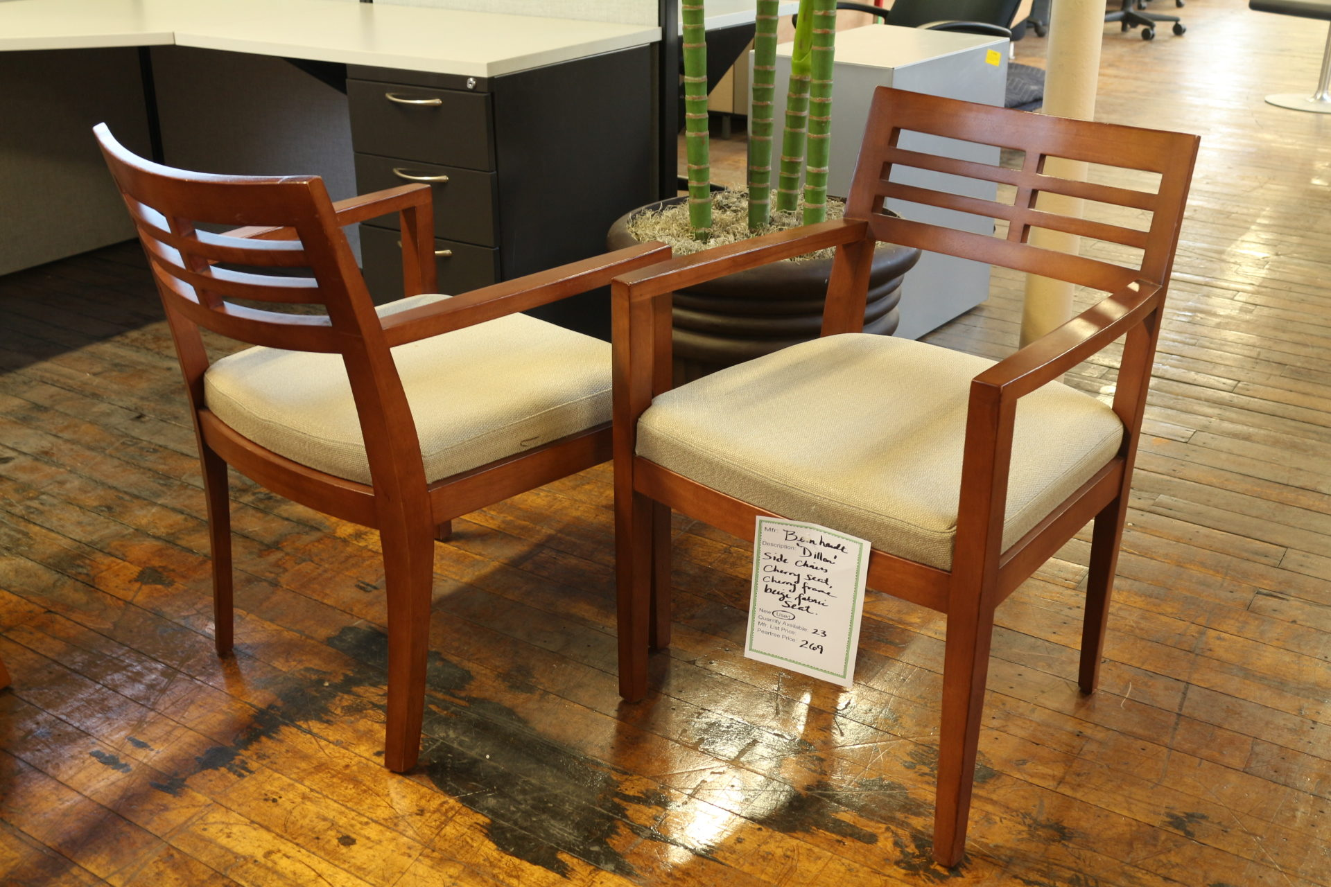 Bernhardt Dillon Cherry Side Chairs