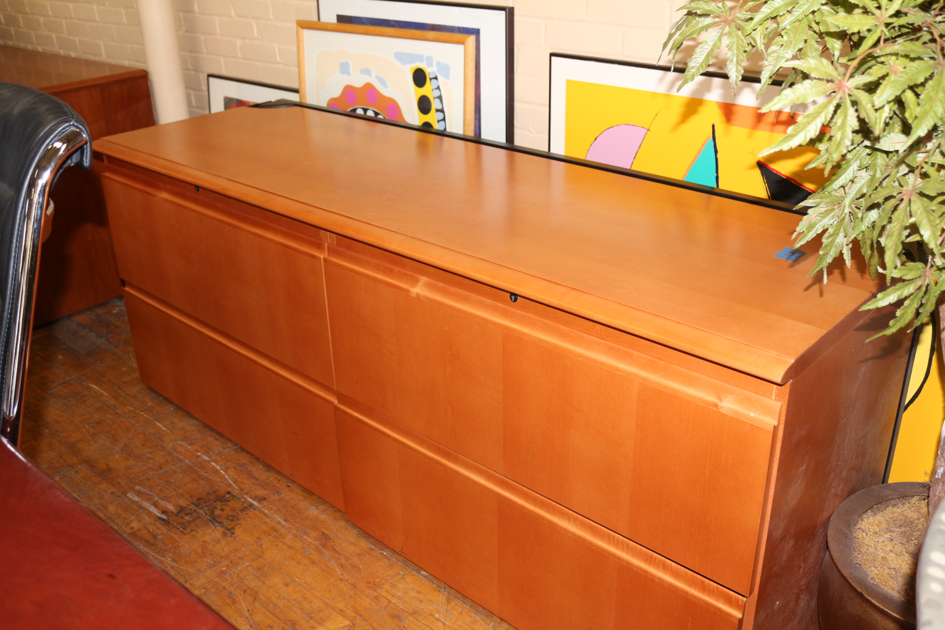 credenza file cabinet steelcase 72 quot 4 drawer lateral file cabinet credenza 14242