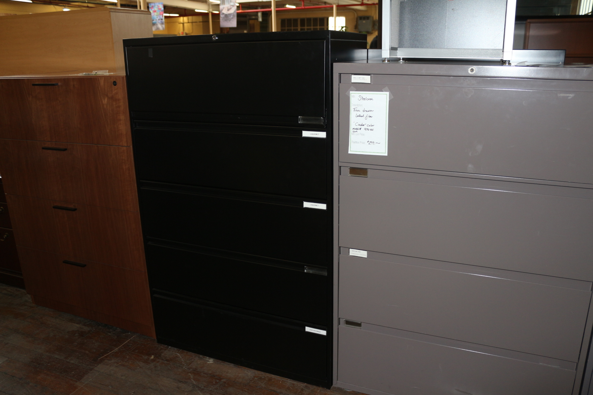 Steelcase 9000 Black 36″ 4-Drawer File Cabinet