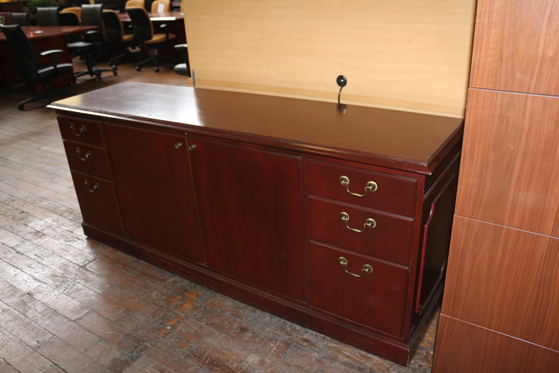 Traditional 72″ Cherry Credenza