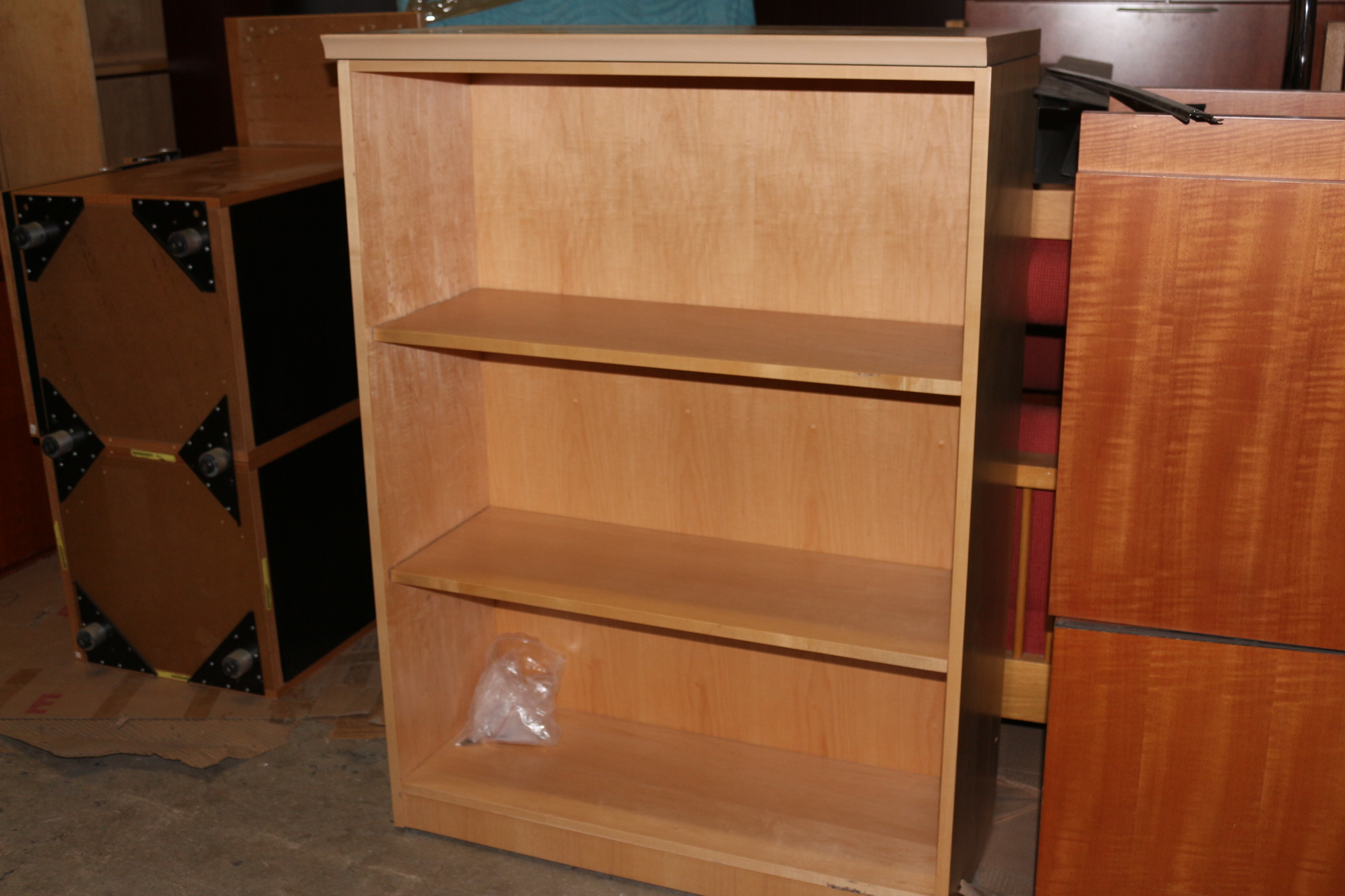 Maple Wood 3-Shelf Bookcase