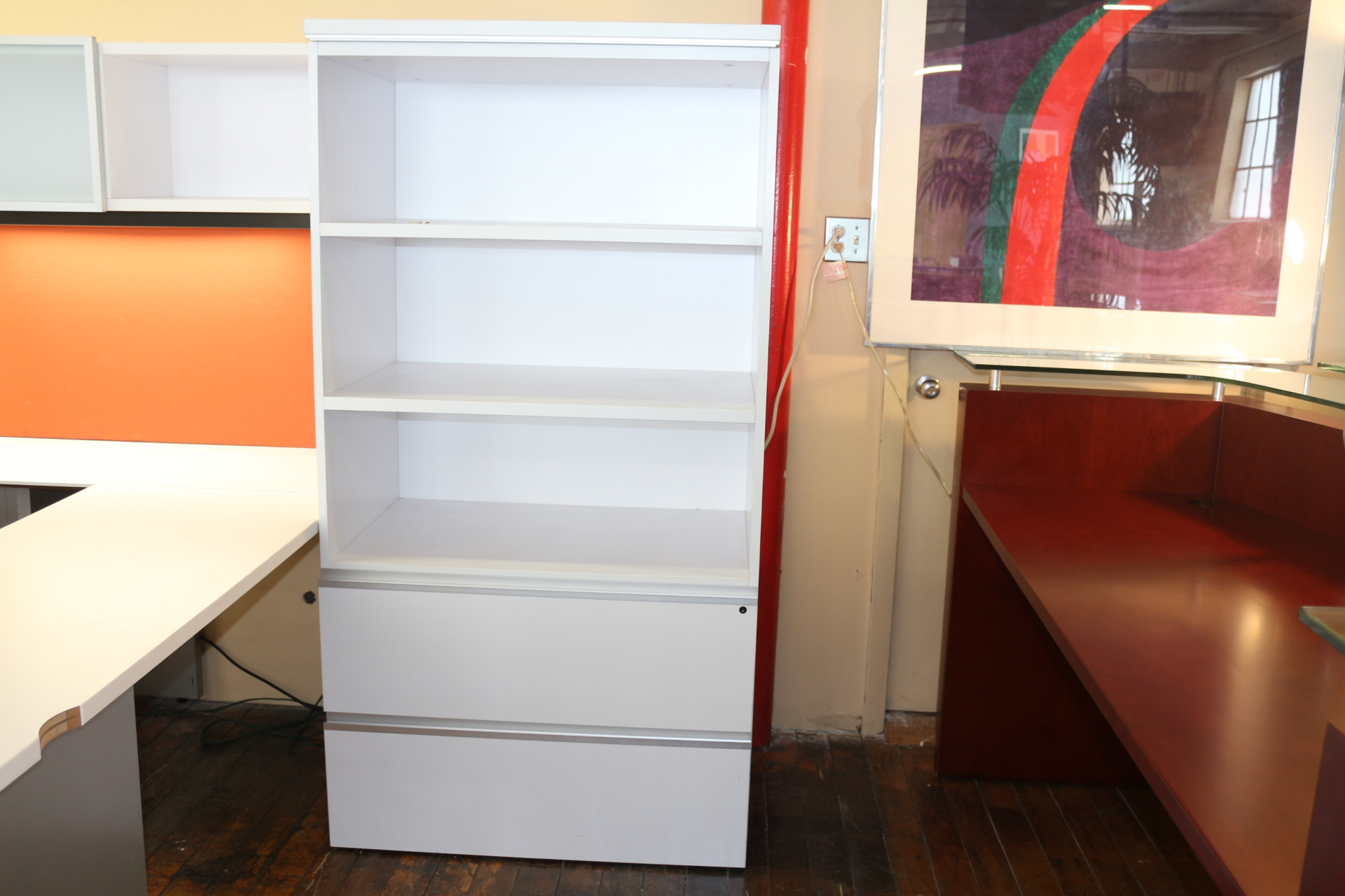 Knoll AutoStrada Bookcase and Lateral File Storage Unit