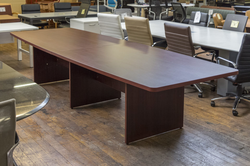 Warren Series 12' Laminate Boat-shaped Conference Tables