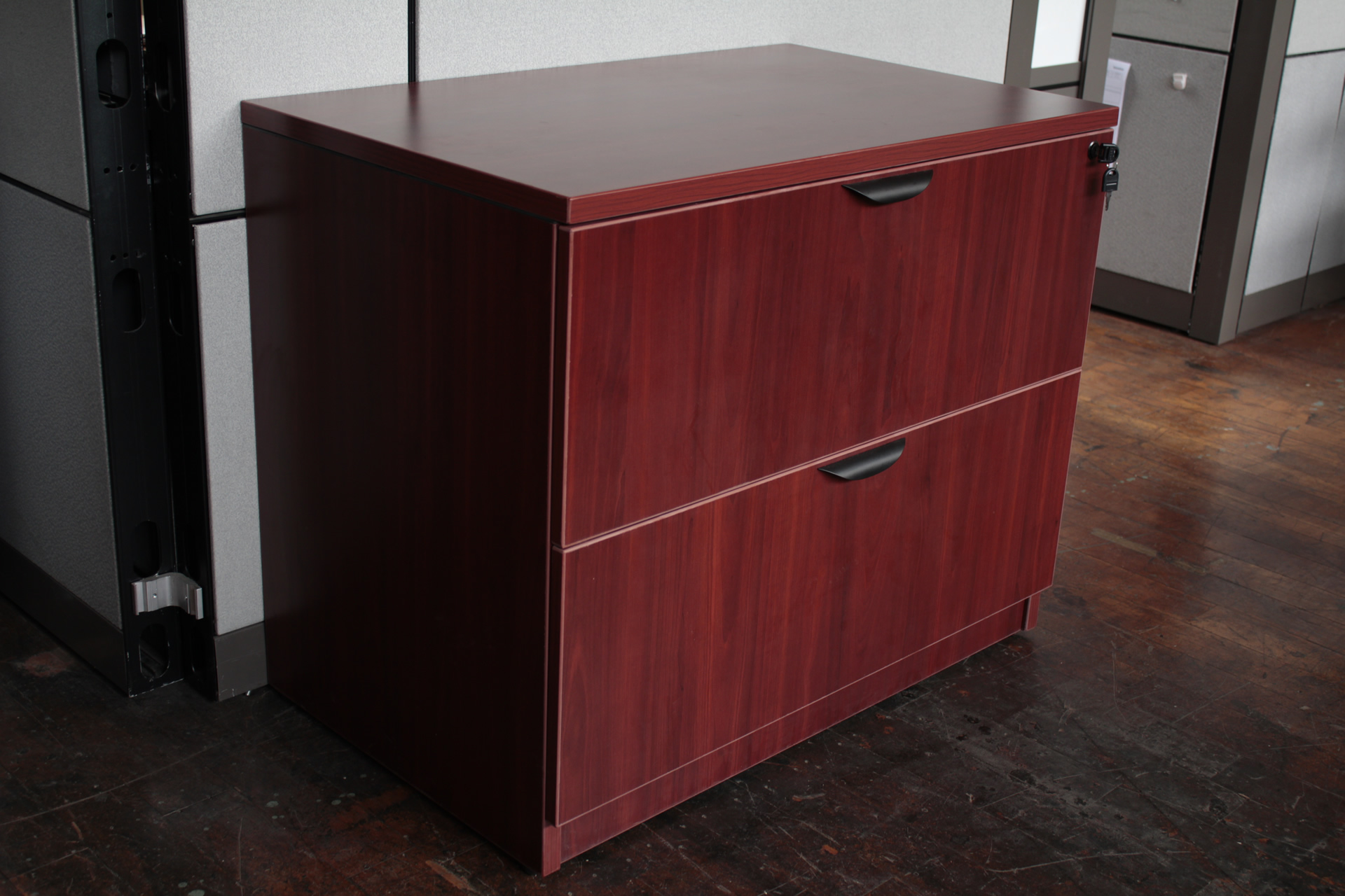 New Light Cherry Or American Cherry 2 Drawer Laminate Lateral File Cabinet