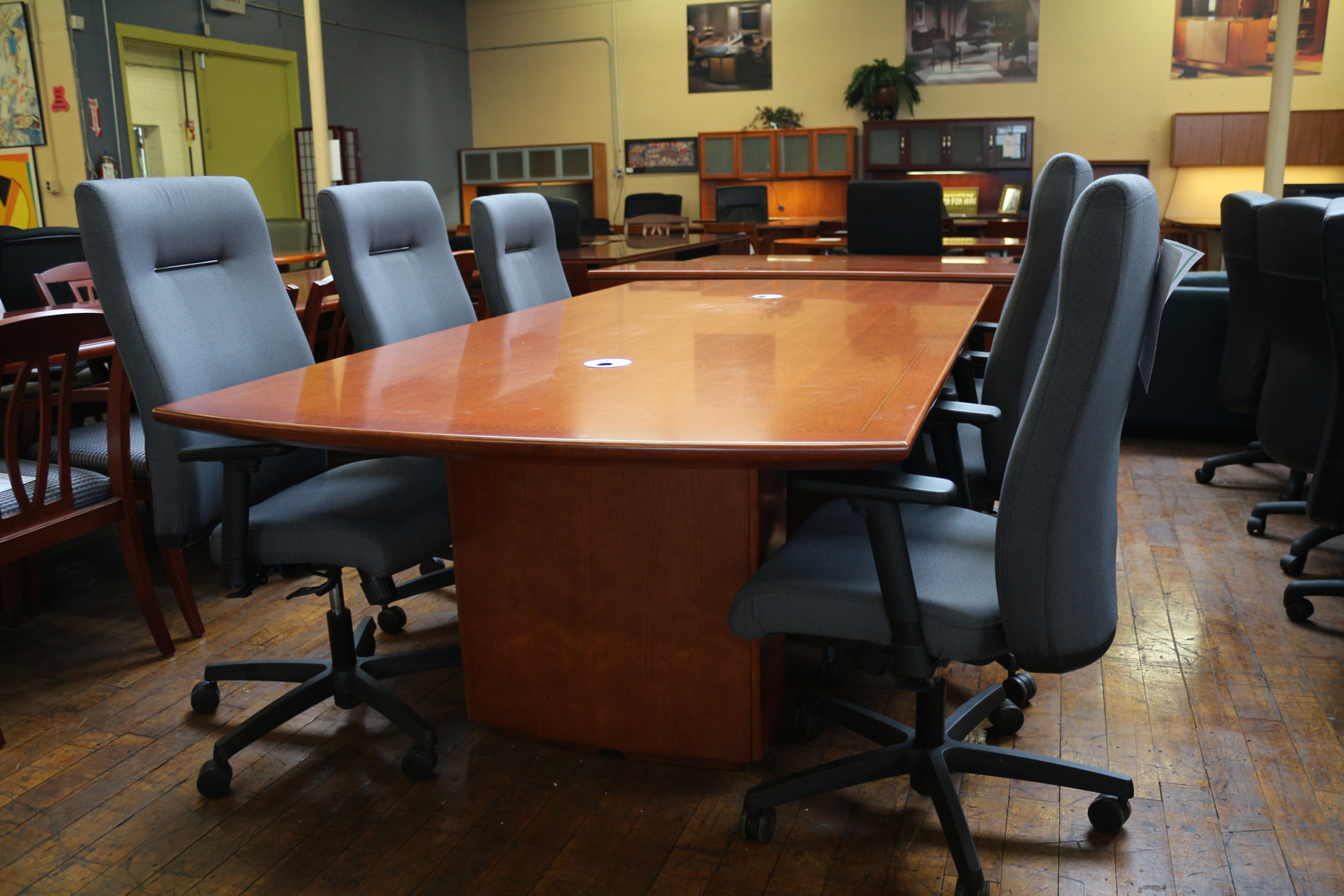 New Peartree 'Sienna' Cherry 8′ x 4′ Conference Table