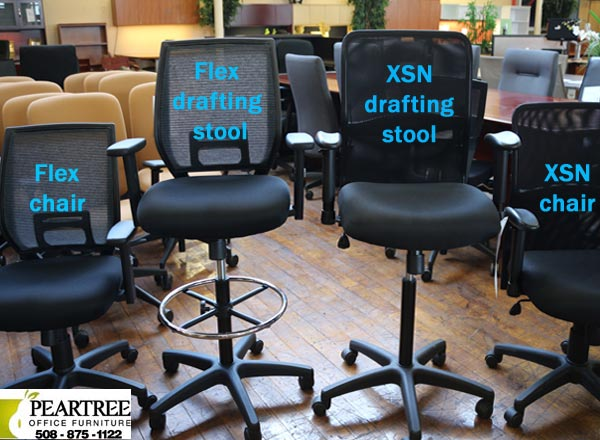 New Black Drafting Stools in two styles