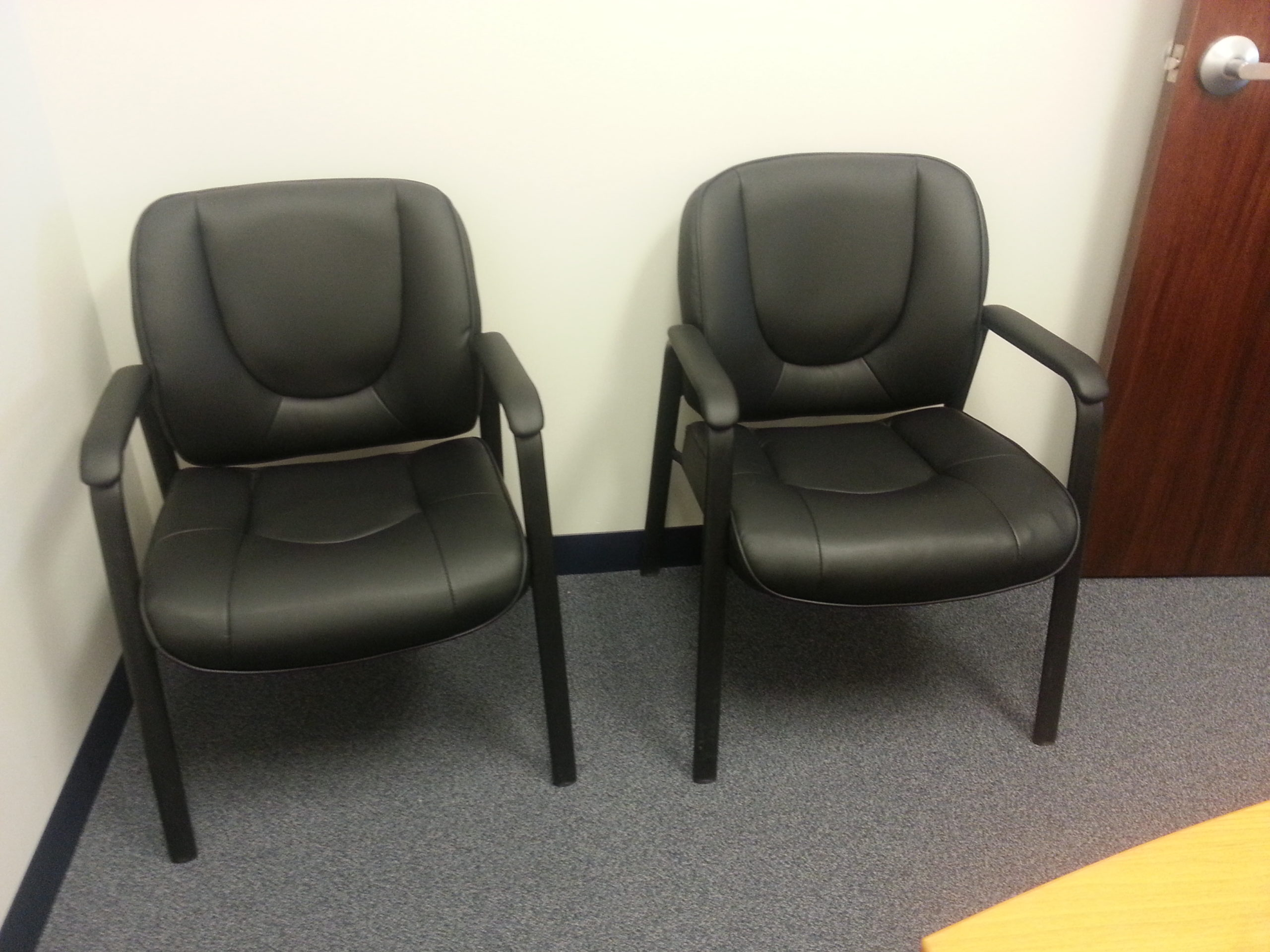 Used Black Leatherette Side Chairs