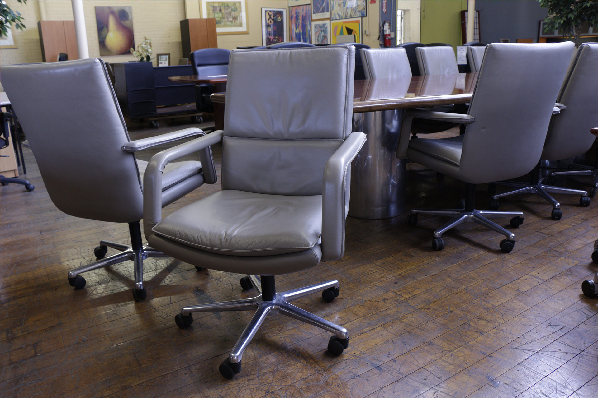 Leather Keilhauer Conference Chairs