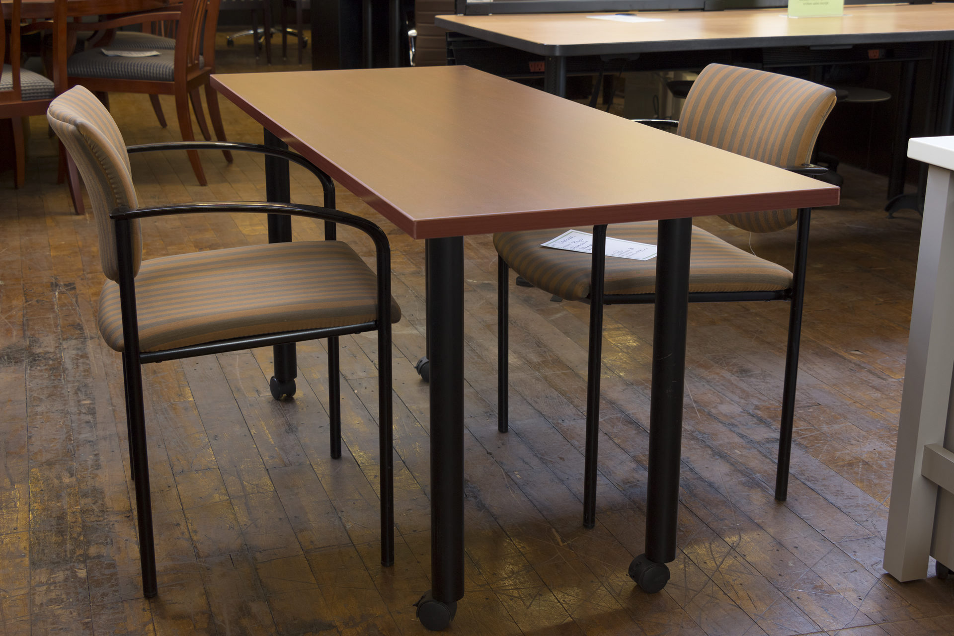 Peartree American Cherry Rolling Meeting Table