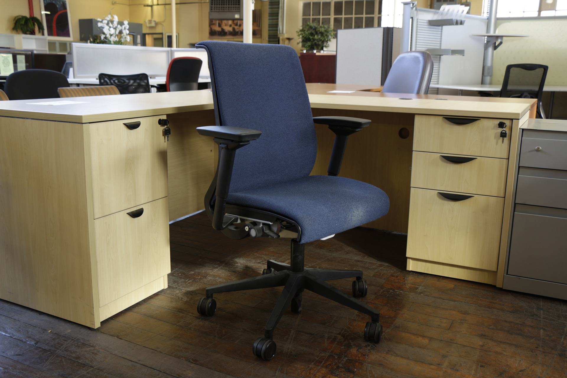 Blue Steelcase Think Chair (Used)
