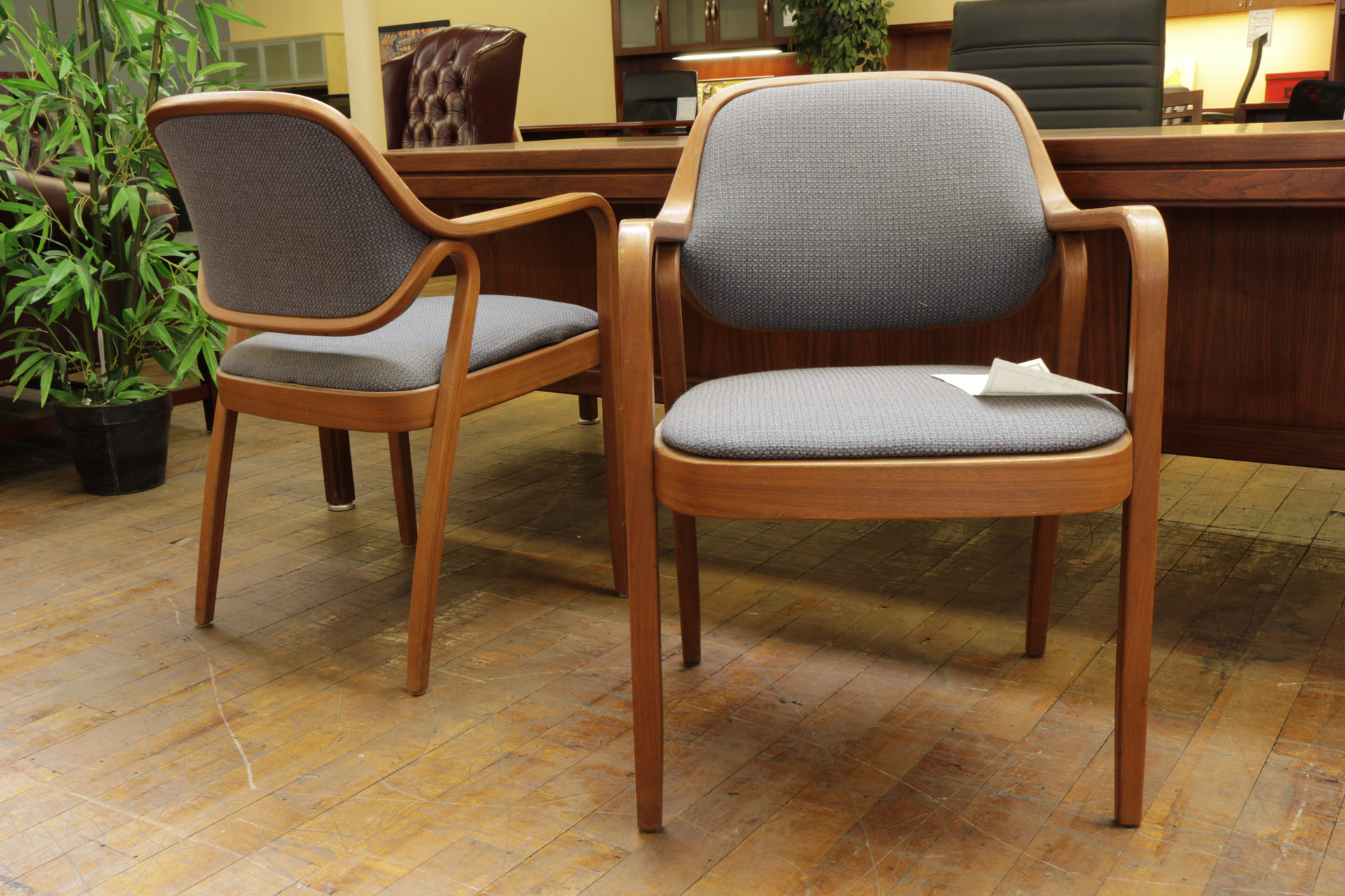 Knoll 'Petit' Bent Wood Frame Side Chairs (Used)