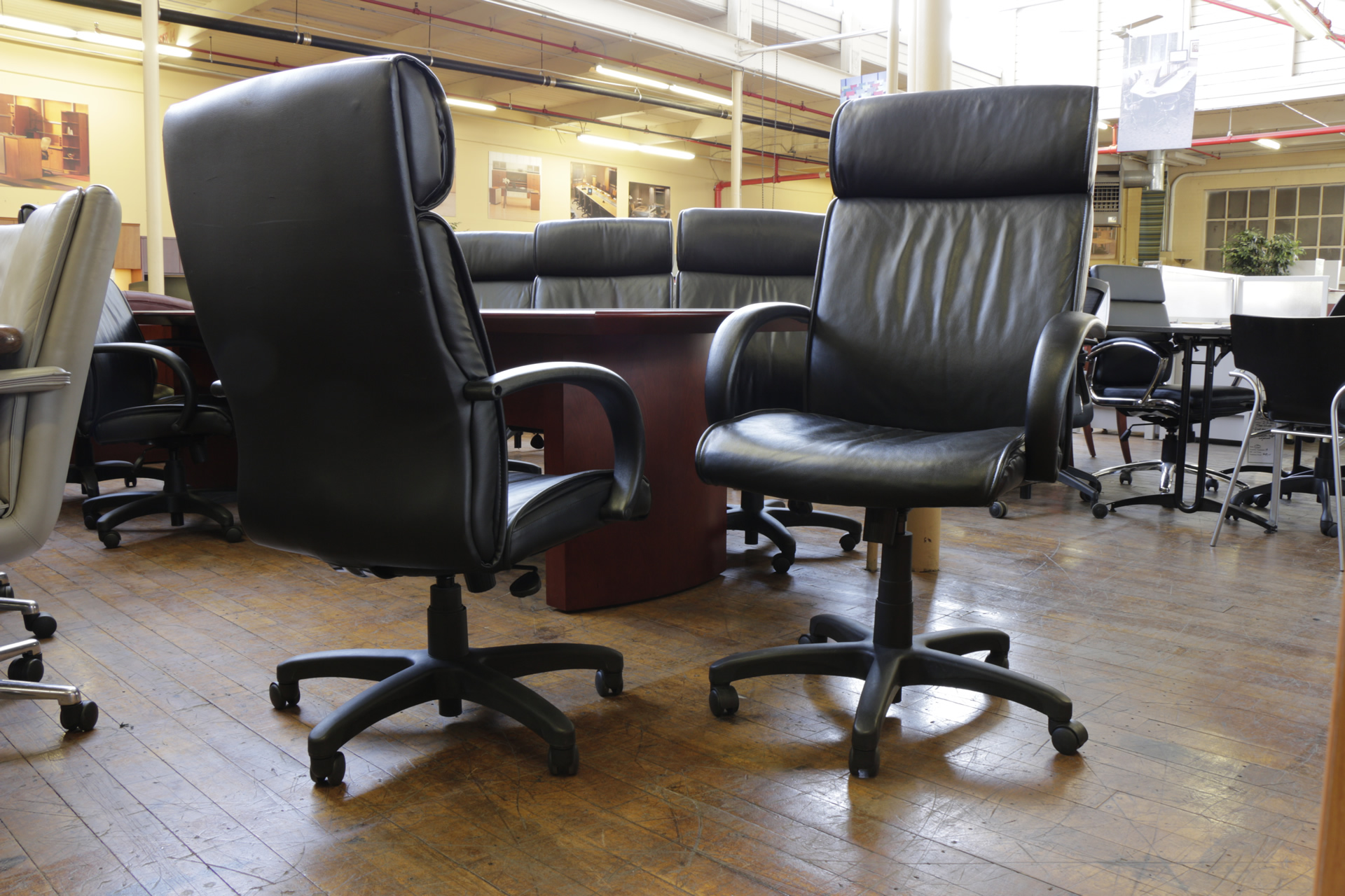 Steelcase Turnstone High Back Leather Chairs (Used)