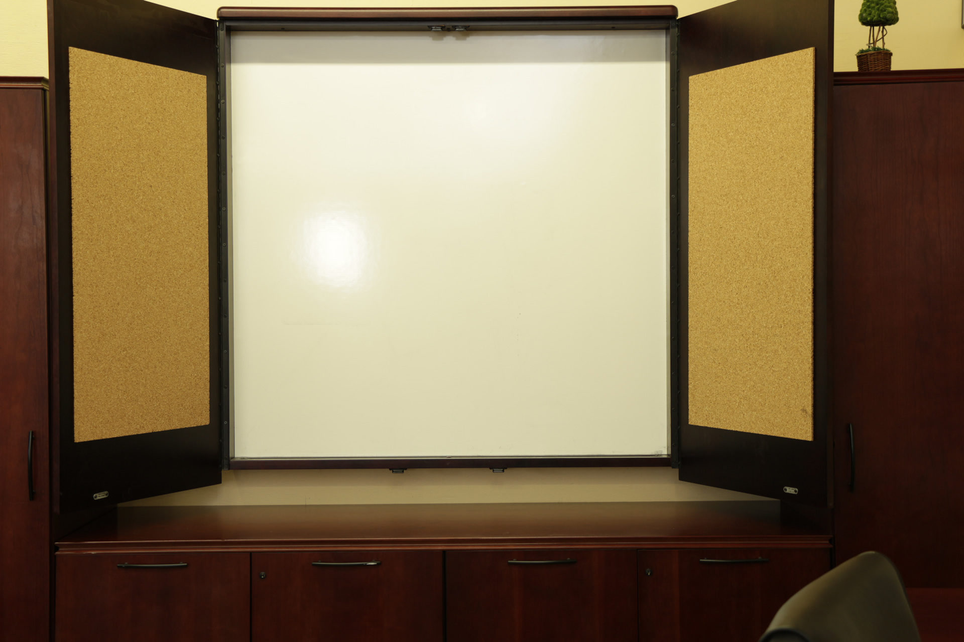 Dark Cherry Wall Mounted Whiteboard