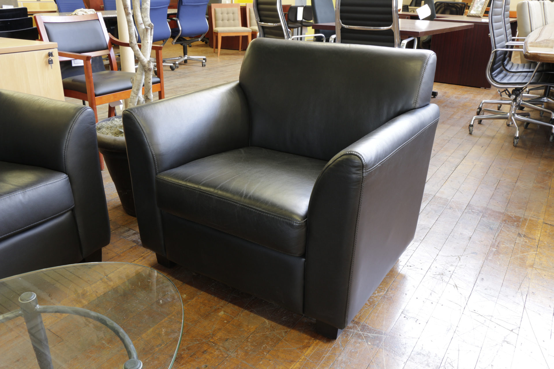 Black Leather Club Chairs