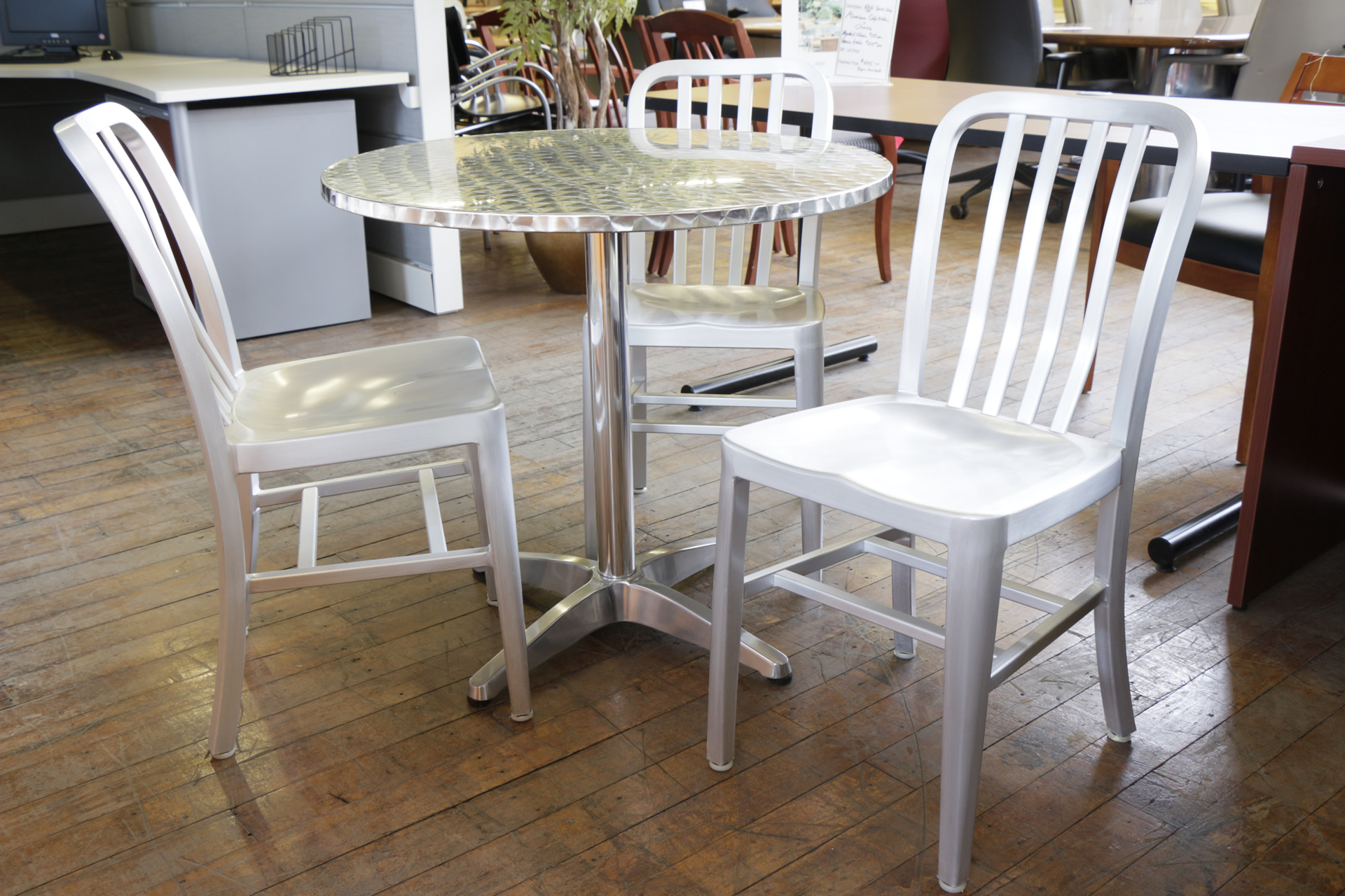 Brushed Aluminum Navy Chairs