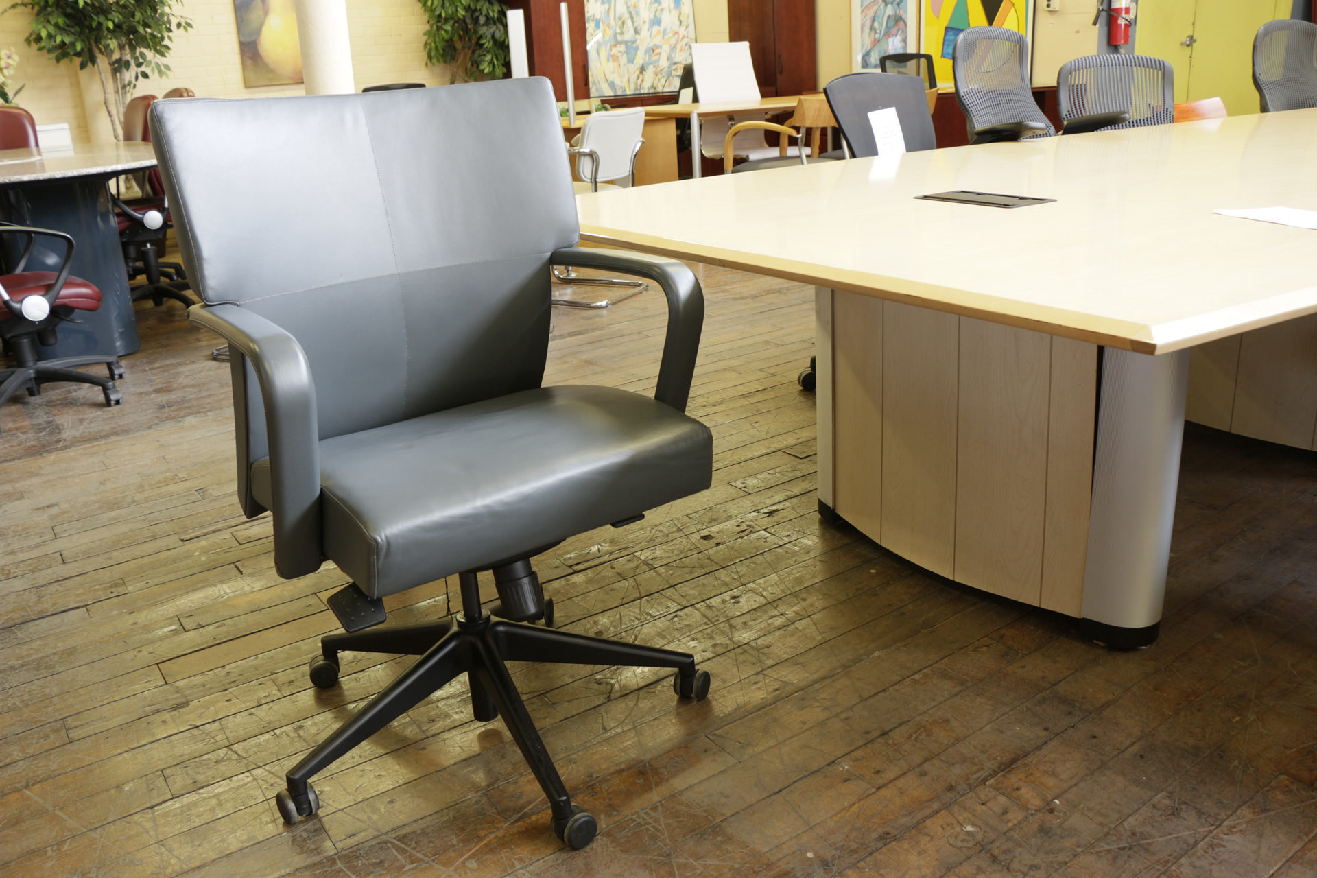 HBF MV9 Mid Back Leather Executive Chair