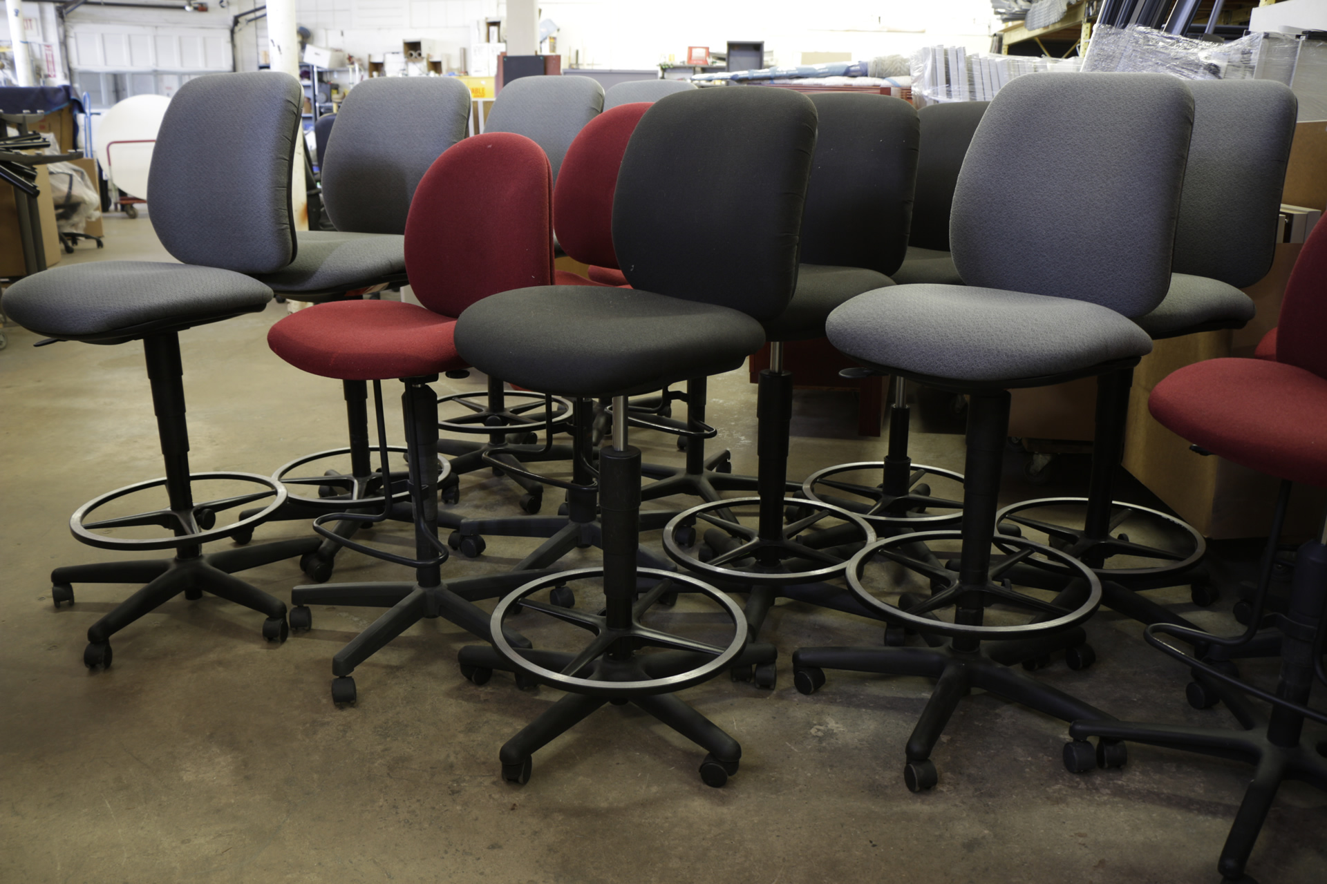 Assorted Bar-Height Drafting Stools