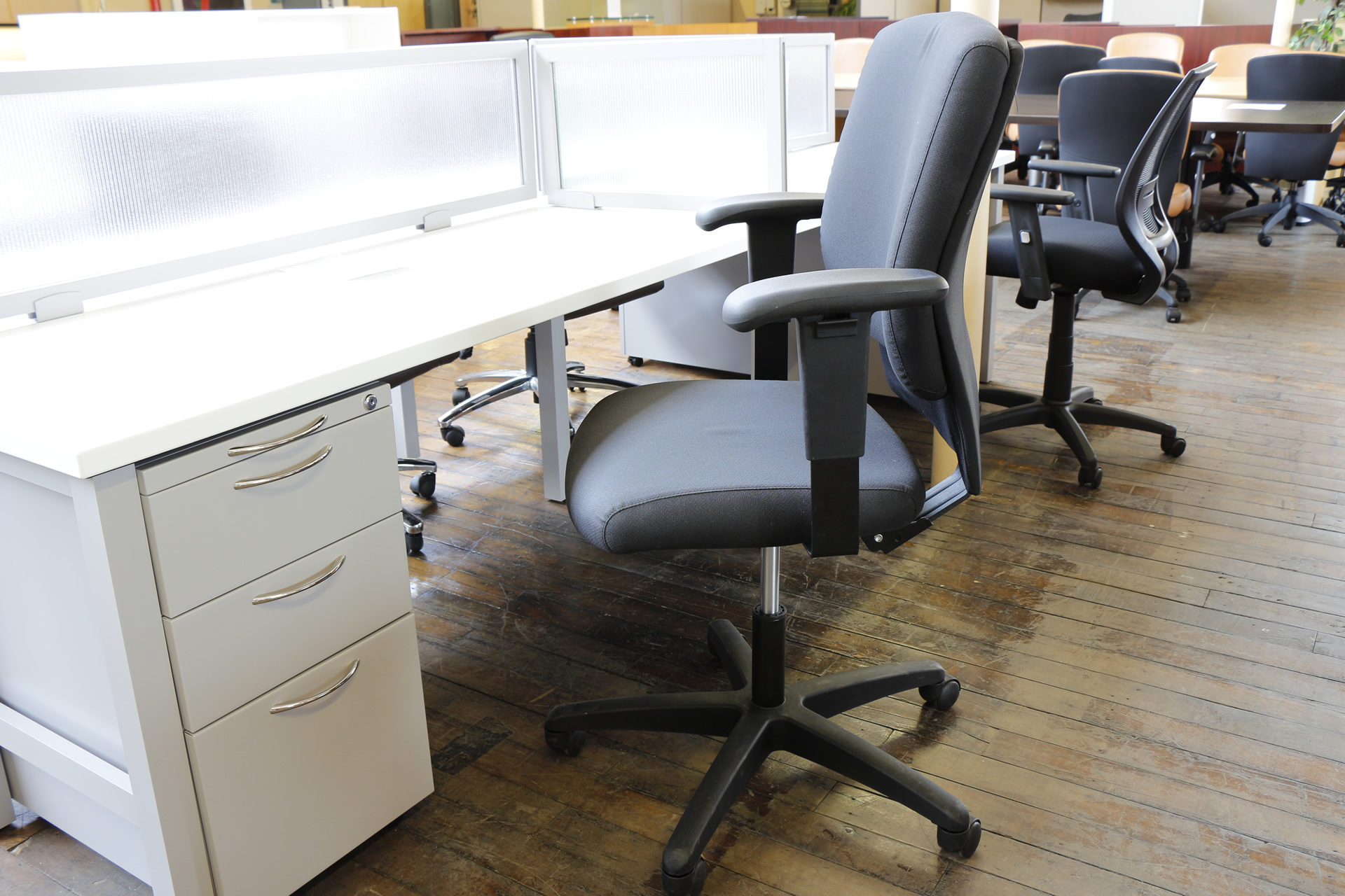 Highmark Emme Black Task Chairs