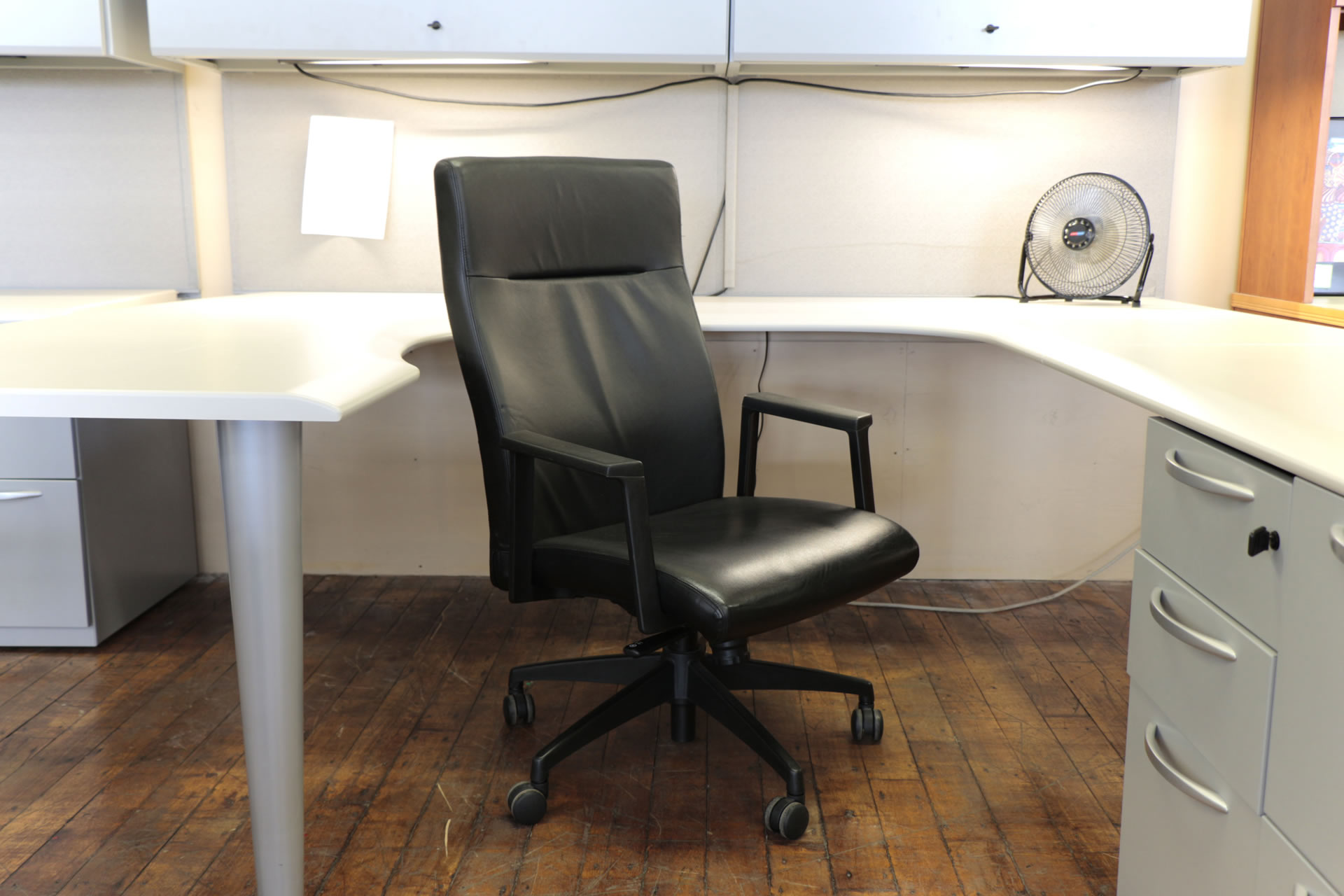 turnstone office furniture. Steelcase Turnstone Black Leather Hi-Back Executive Chairs.  Peartreeofficefurniture_peartreeofficefurniture_mg_4640.jpg Turnstone Office Furniture