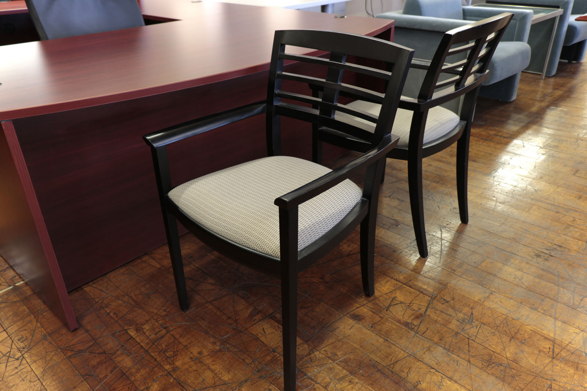 ICF Group Black Wood Guest Chairs