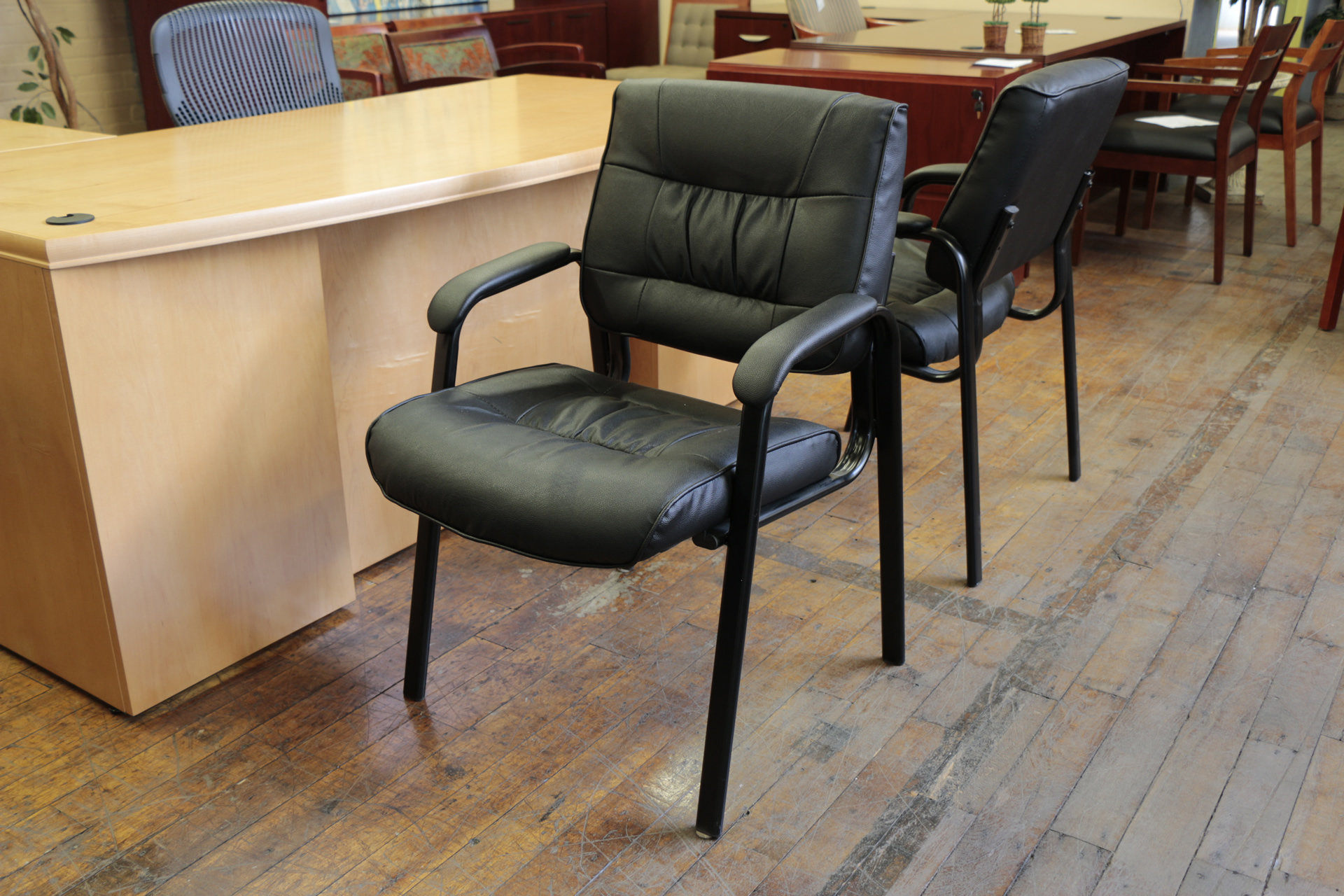Office Star Worksmart Leather Guest Chairs