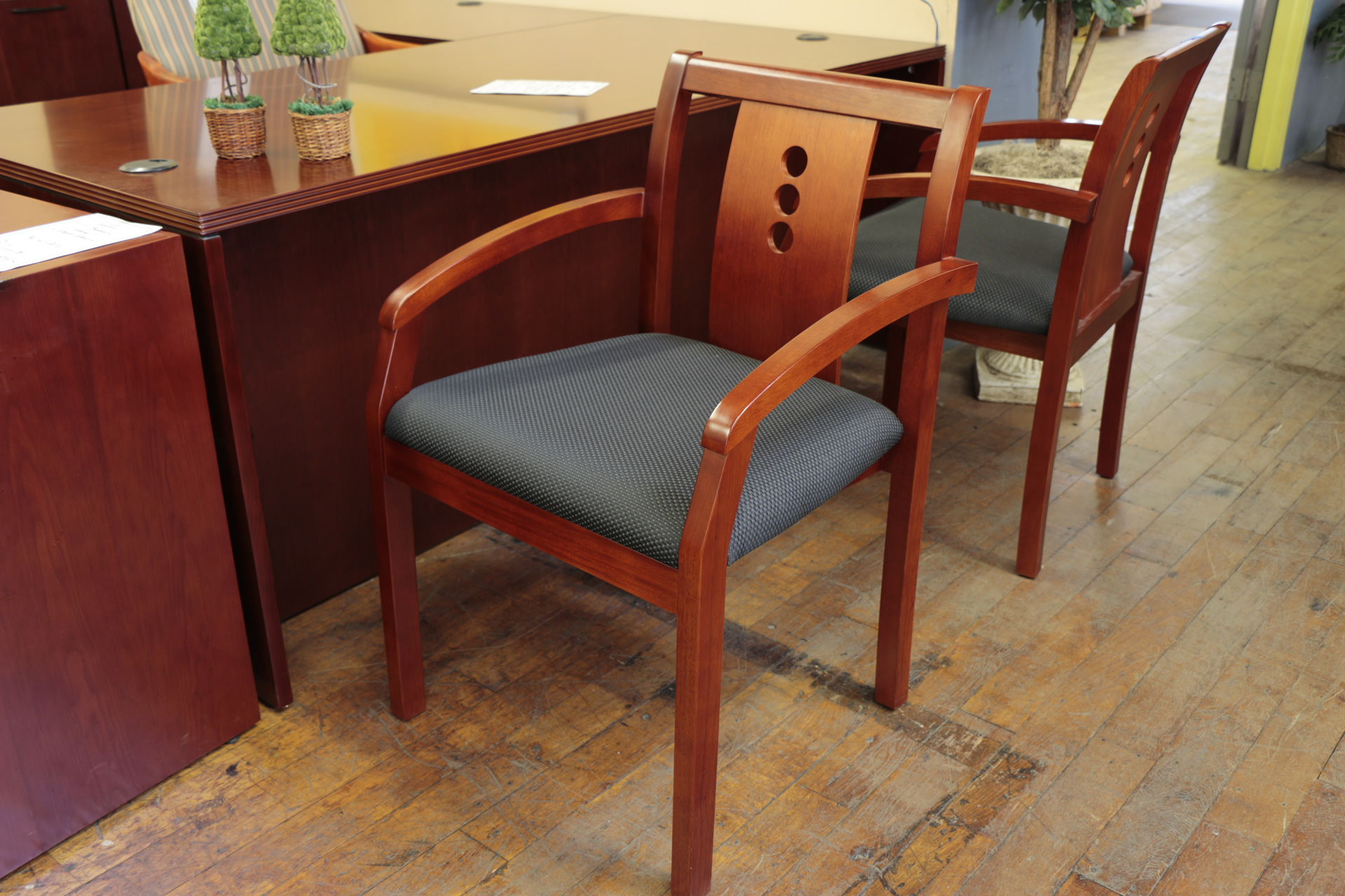 Cherry Side Arm Chairs