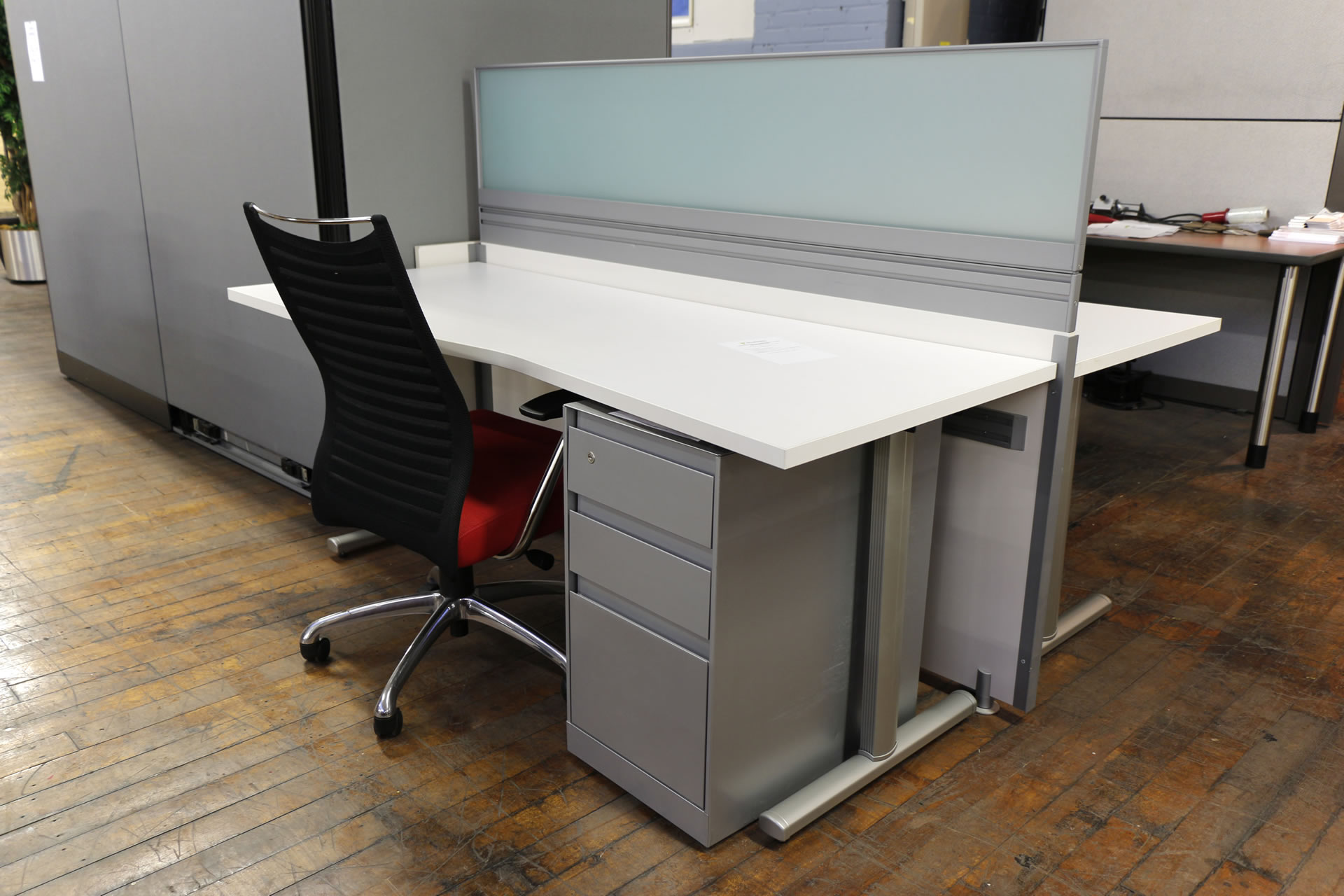 Arctic White 2 User Open-Plan Workstation