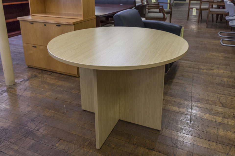 "Warren Series 42"" Diameter Laminate Round Meeting Table"