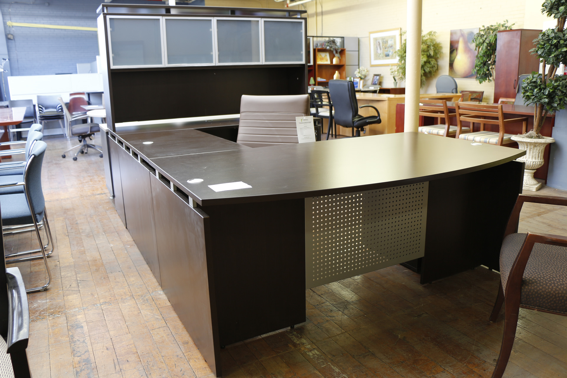 Espresso Warren Series U-Shaped Desk
