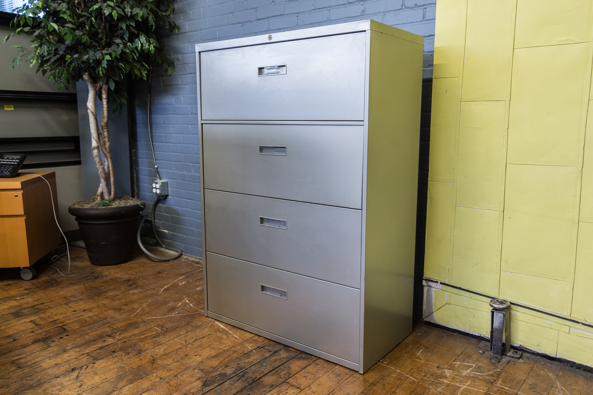 steelcase file cabinets steelcase silver 4 drawer lateral file cabinets peartree 26784
