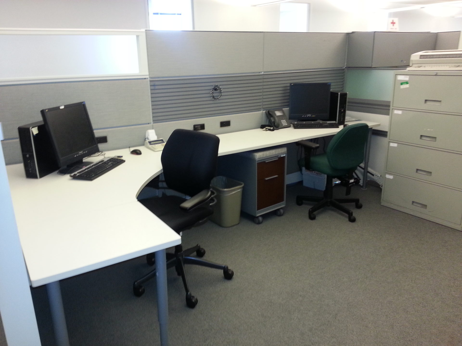 Teknion Leverage 6 x 8 cubicles with dropdowns-large lot