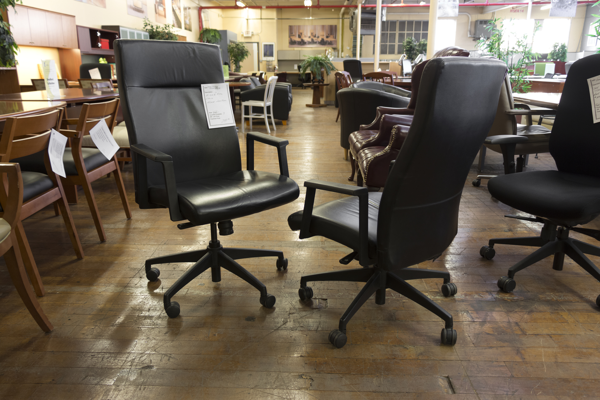 black leather hi back executive chairs peartree office furniture