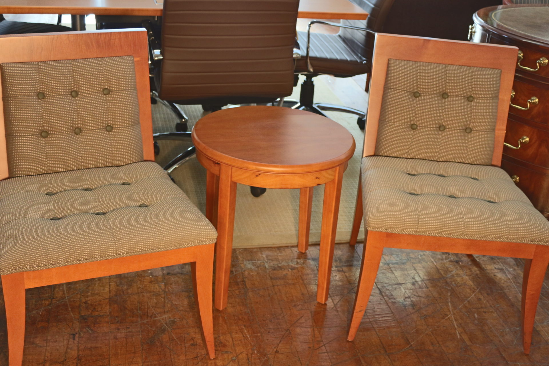David Edward Tufted Side Chairs