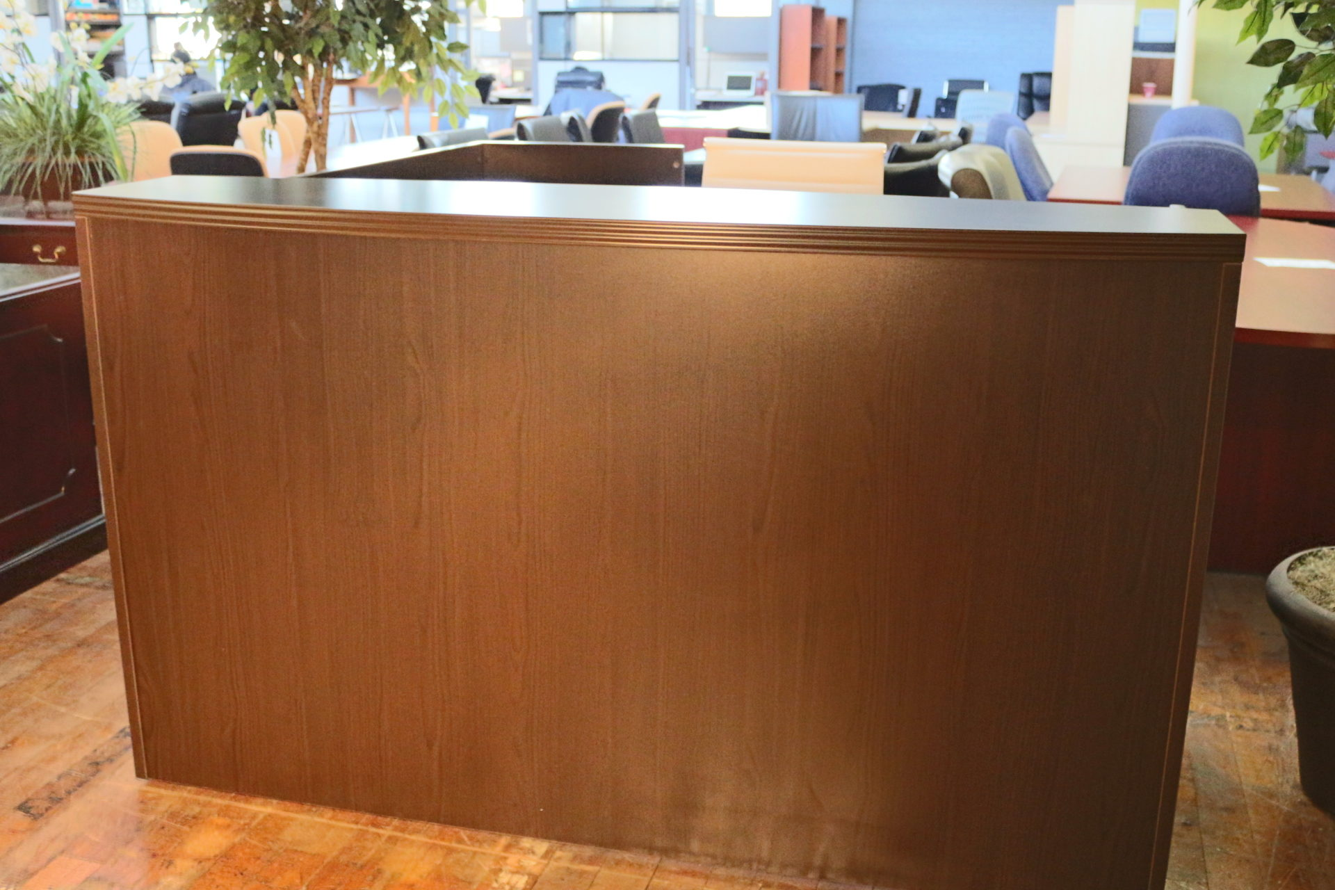 Peartree Espresso Laminate Reception Desk