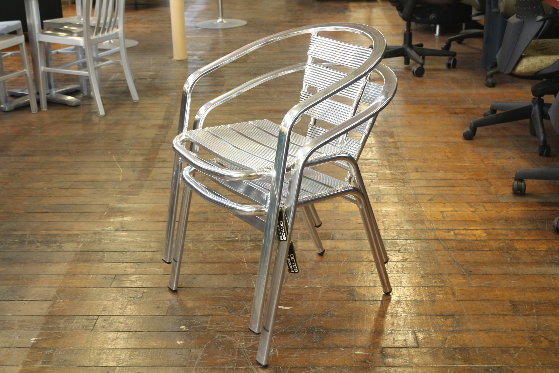 Dale Aluminum Cafe Chairs Peartree Office Furniture
