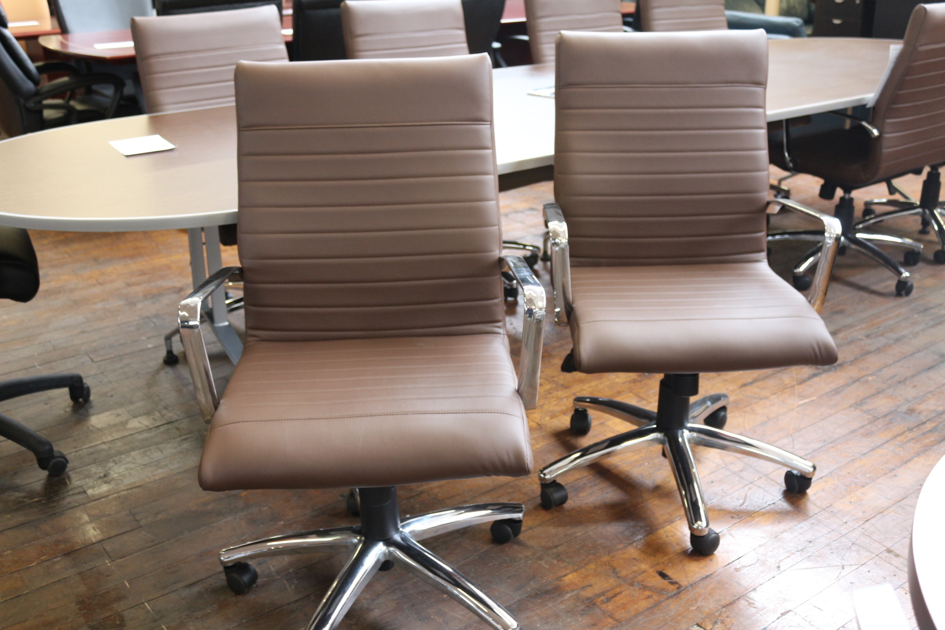 OTG Chocolate Brown Bonded Leather Conference Chairs
