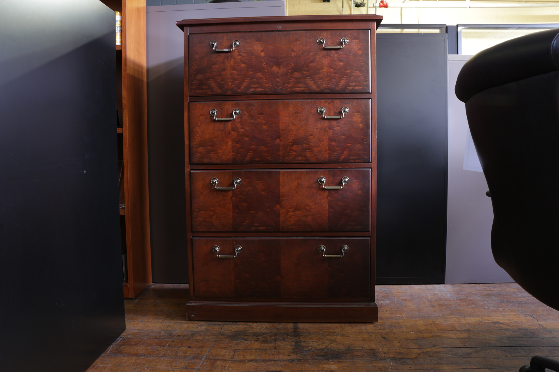 kimball wood 4 drawer lateral file cabinet peartree