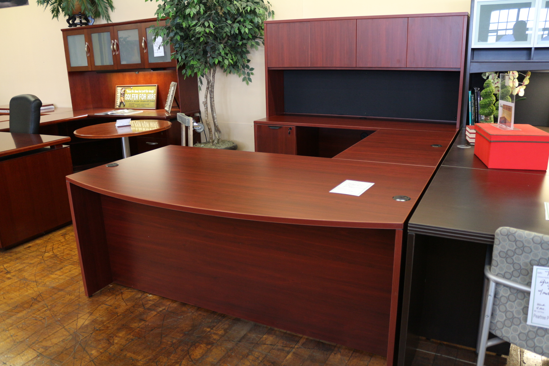 executive desk with overhead hutch peartree office furniture