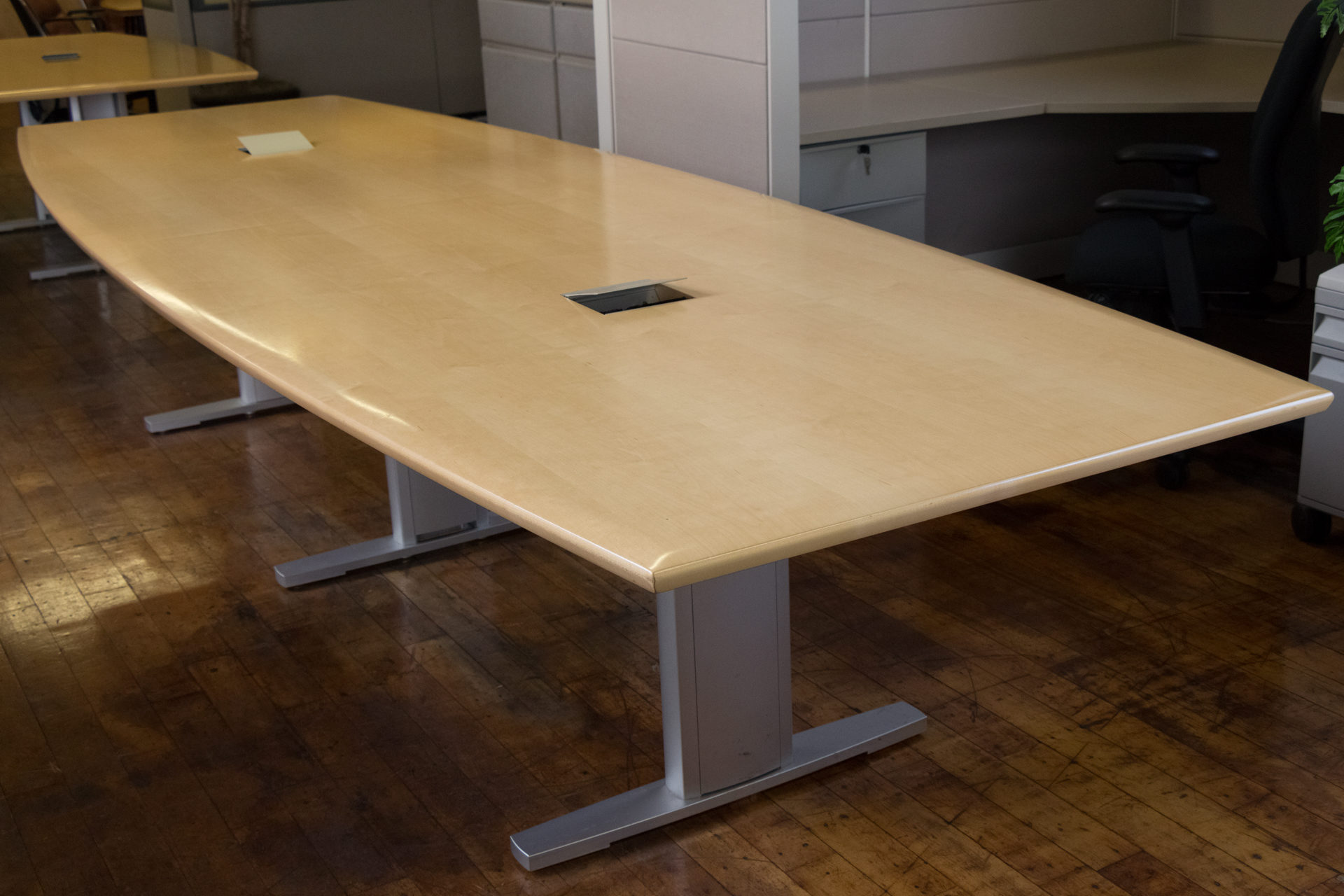 12′ Nienkamper Maple Conference Table with TeleData Forums