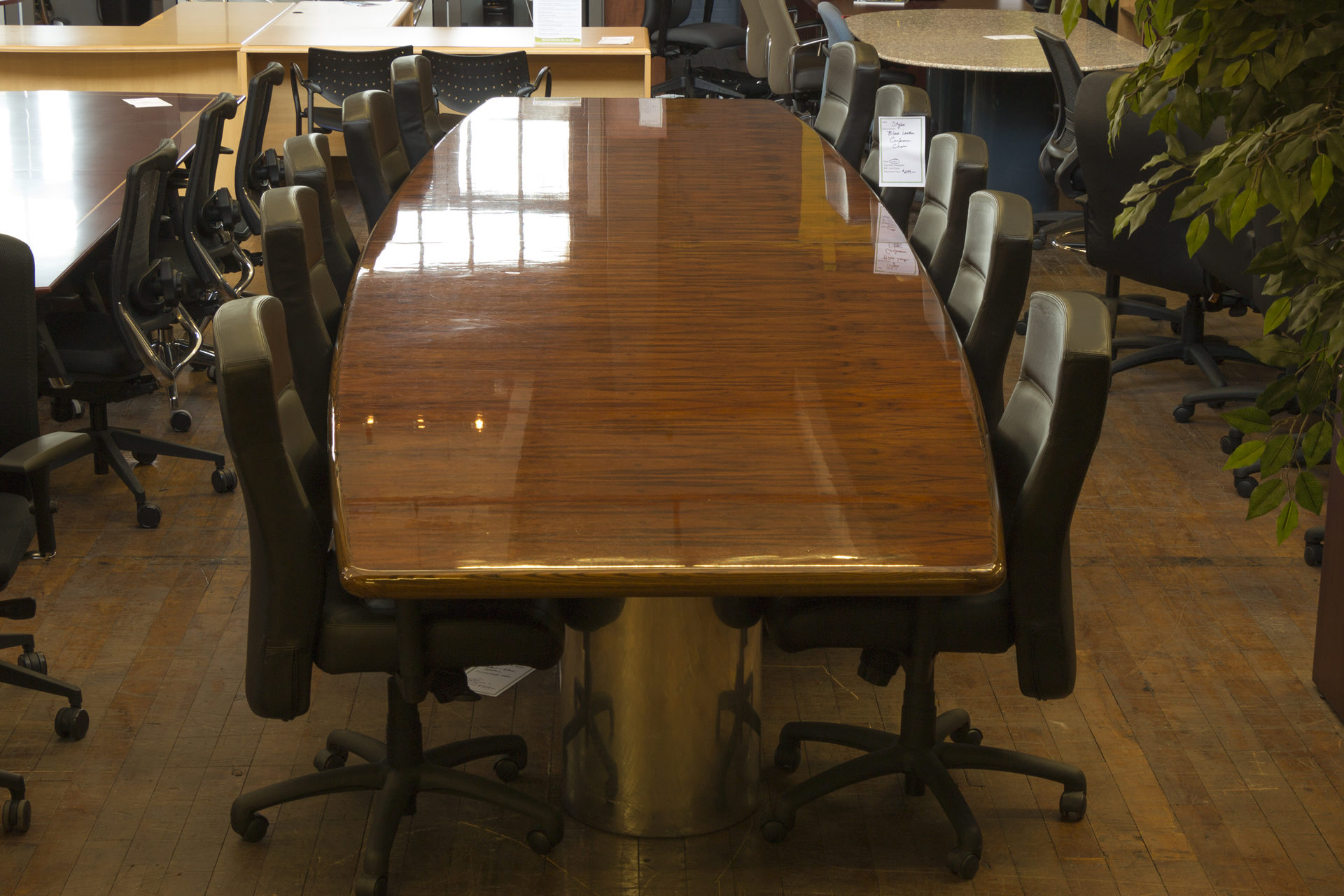 Custom MidCentury Vintage Rosewood Conference Table Peartree - Mid century conference table