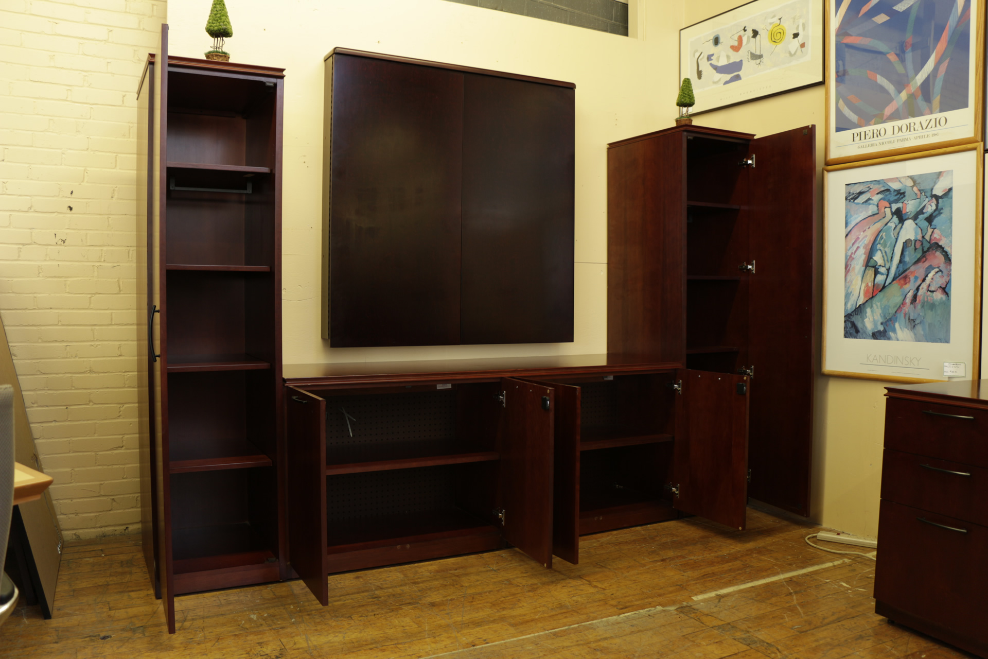Paoli Cherry Conference Center Wall Unit Peartree Office