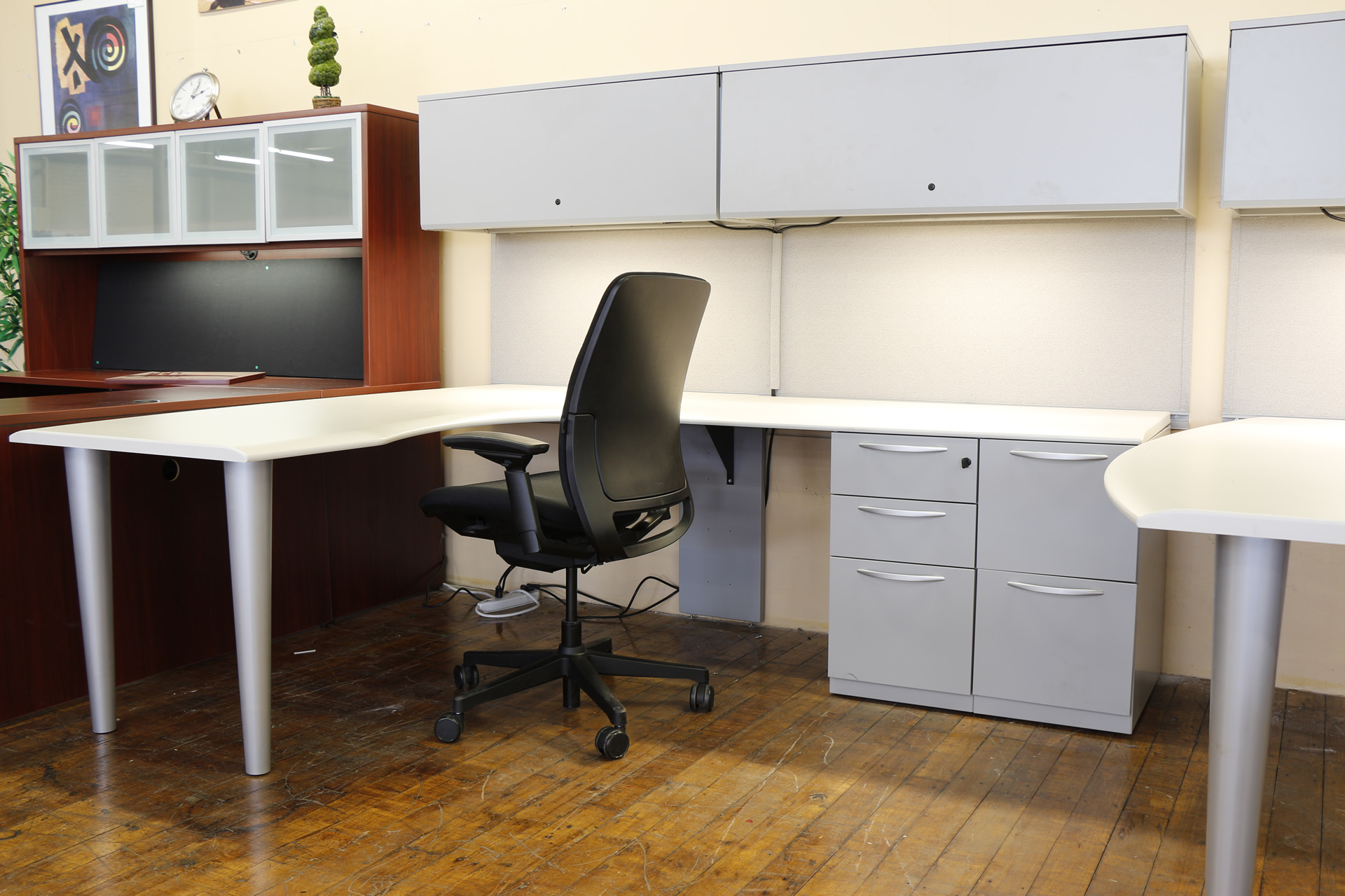 Kimball harpers 6 x 8 modular l desks peartree office furniture - Kimball office desk ...
