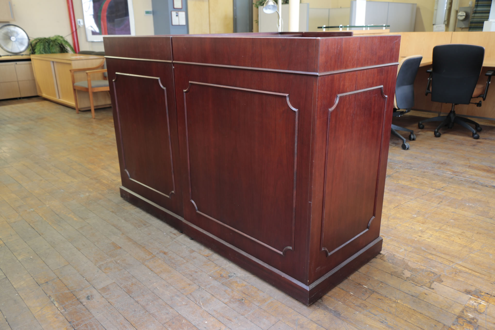 Classic Mahogany Ofs Reception Desk Peartree Office
