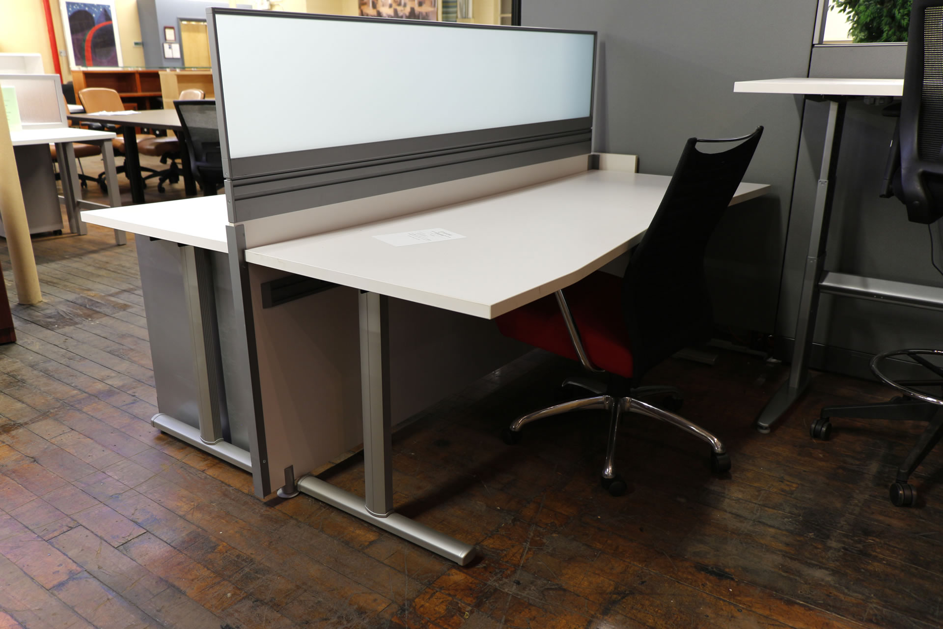 Arctic White 2 User Open Plan Workstation Peartree