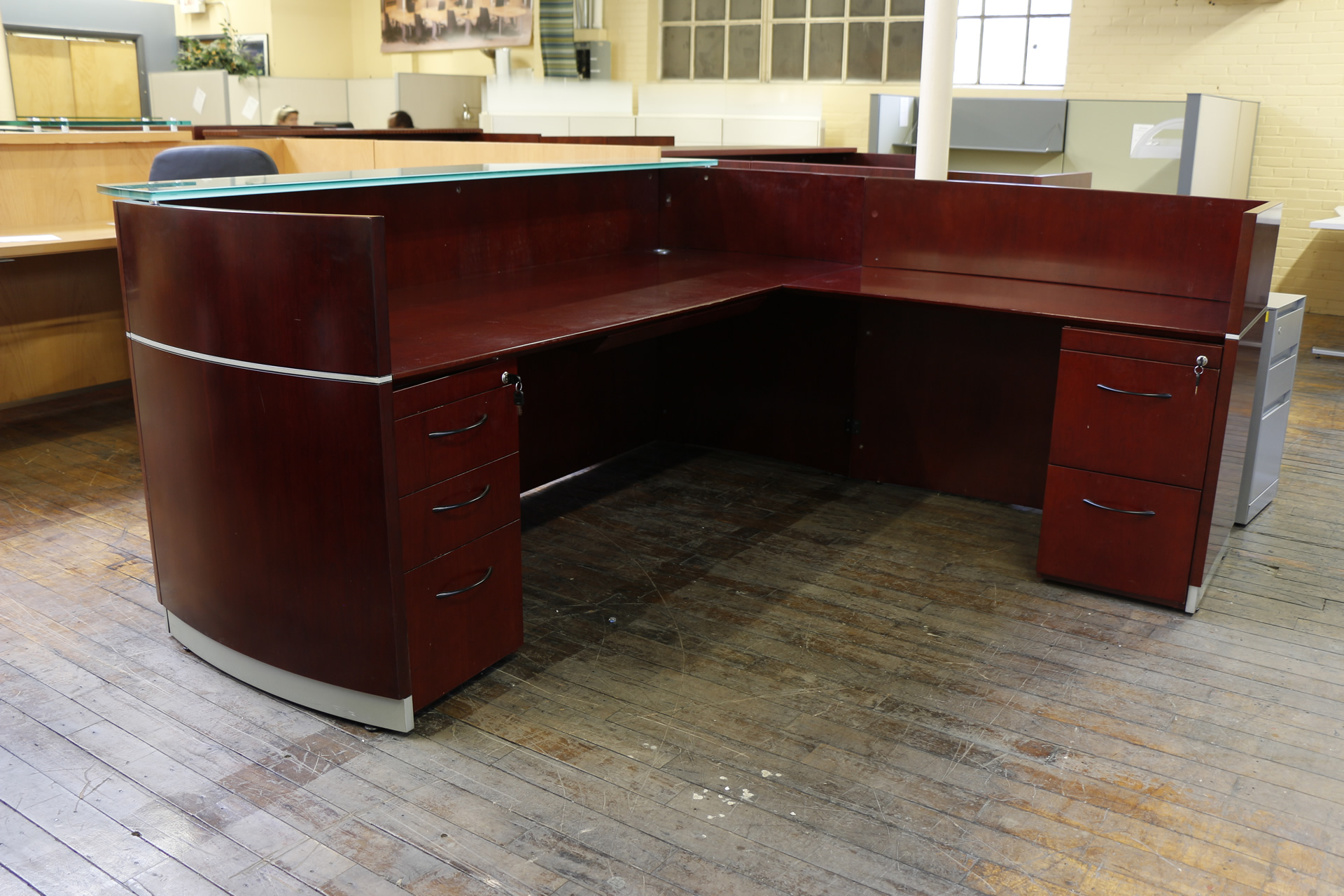file desk medina curved box suite office number and mayline series furniture return pin with
