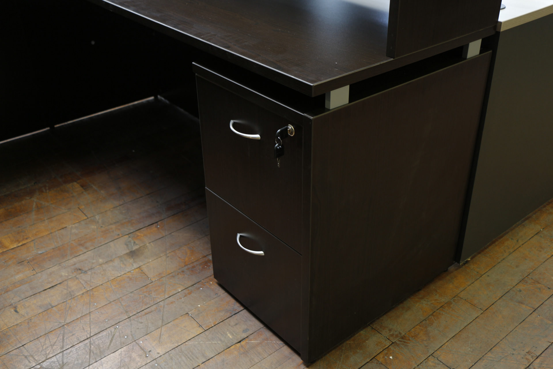 Espresso Warren Series Laminate U-Shaped Desk