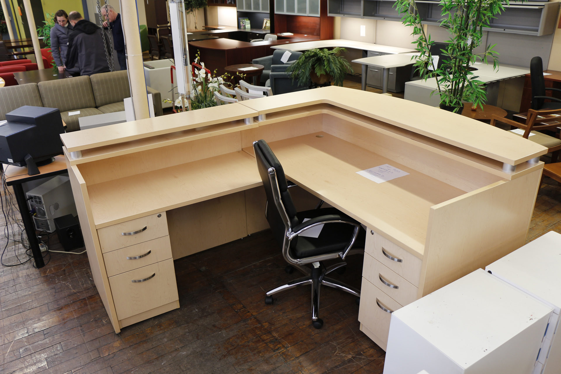 Teknion Maple Laminate Reception Desk